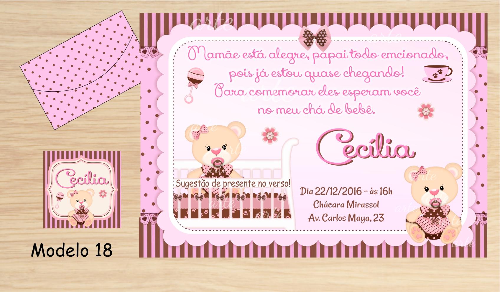48 Convites Chá Bebê Fraldas No Elo7 Personalizados Carcele 755bc3