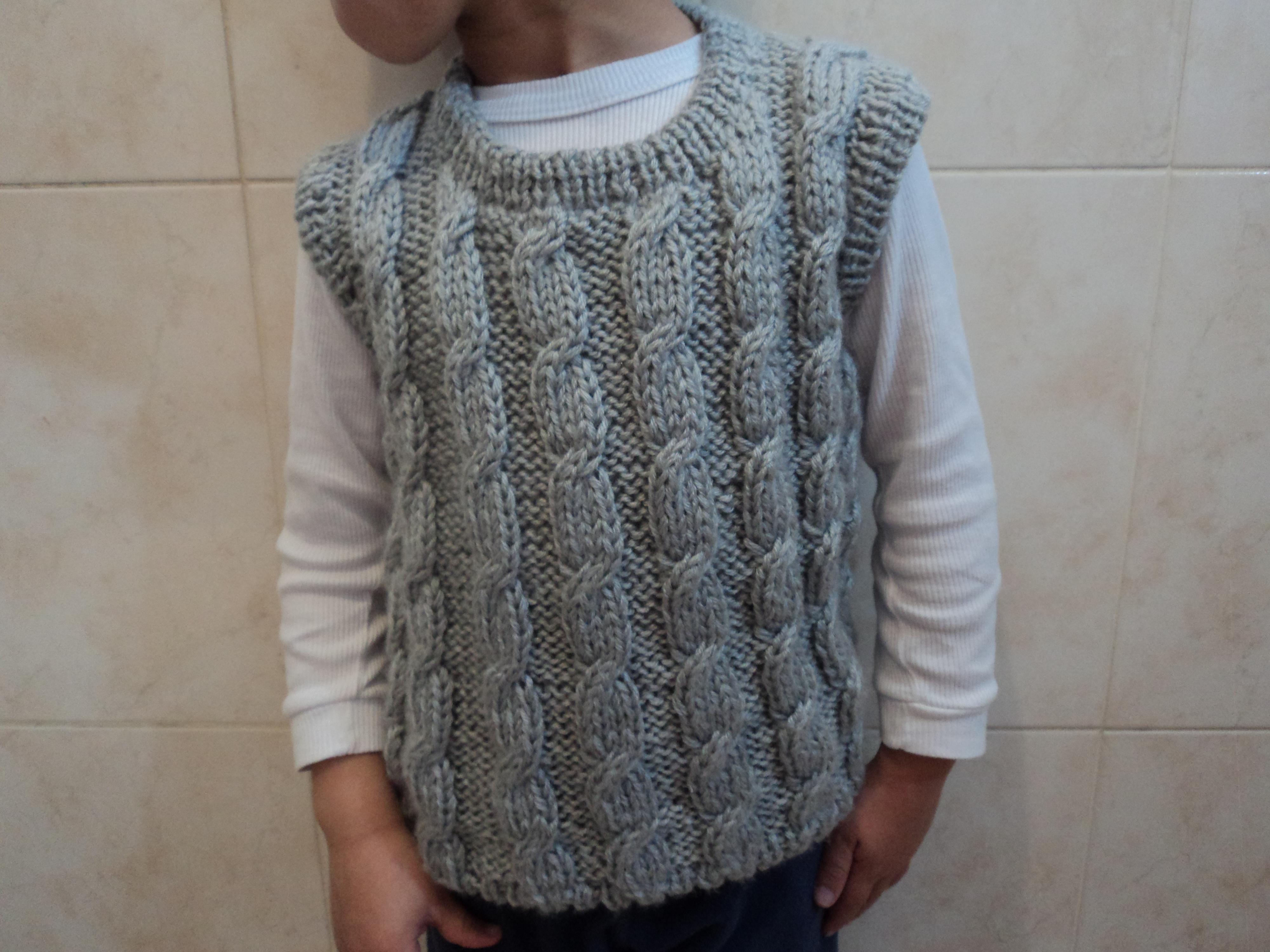 colete de tricô infantil no Elo7  2b729516dc4