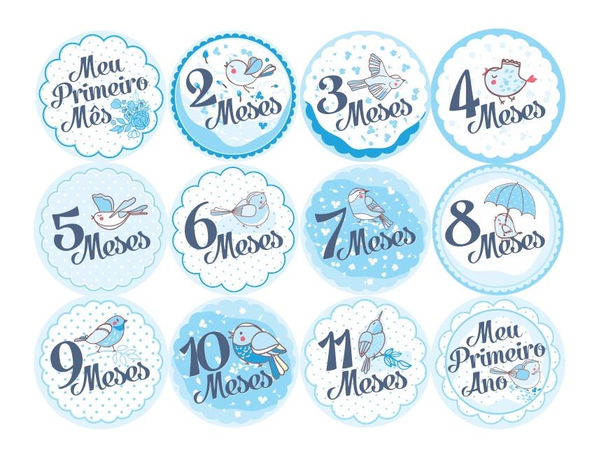 Adesivo De Mesversario ~ Adesivo 12 meses Princess Convites Especiais Elo7