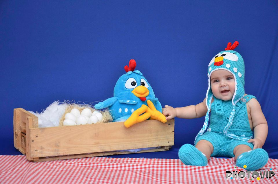 a7d64dc6e8 kit roupa em crochê galinha pintadinha no Elo7