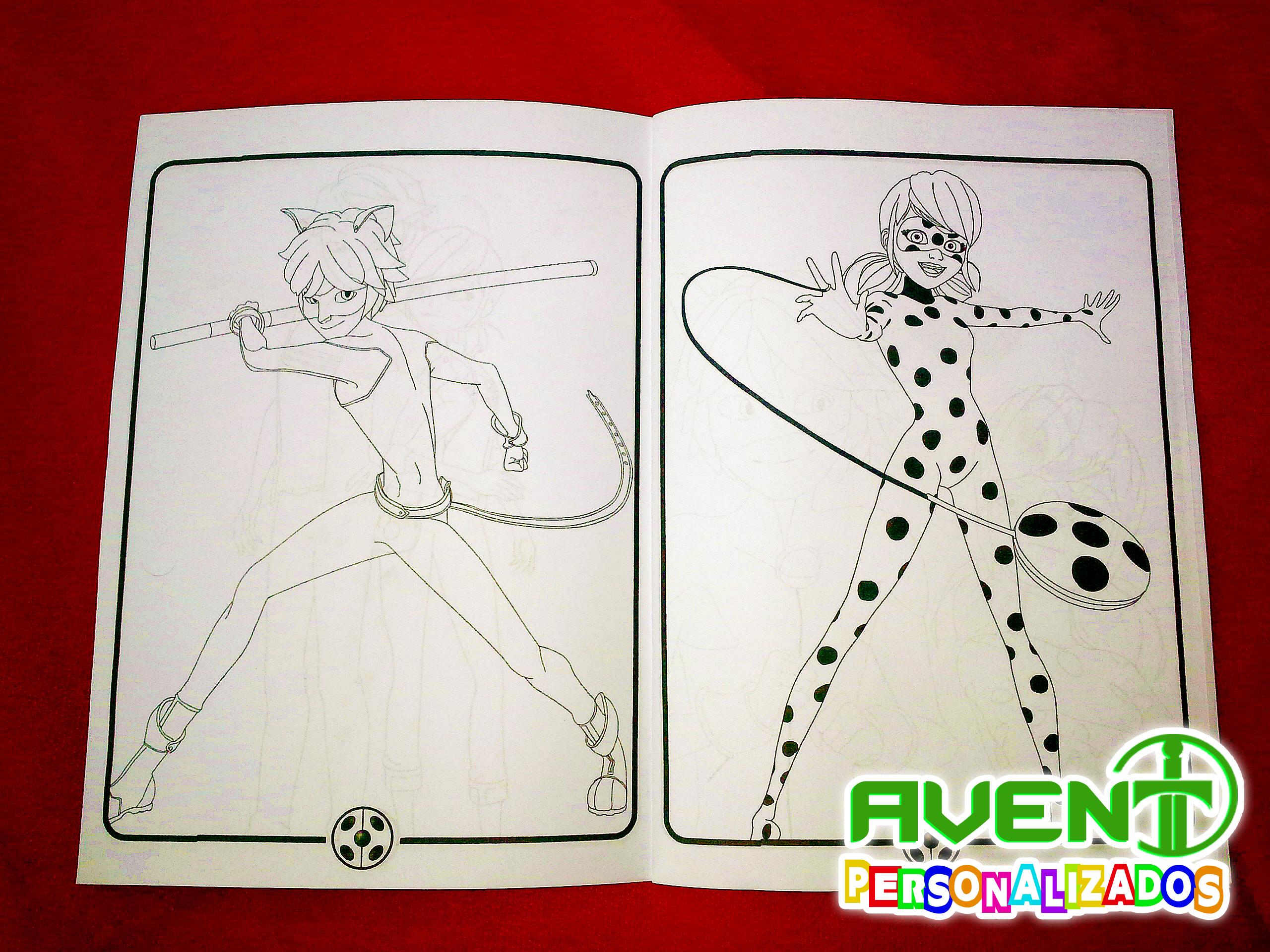 Revista P Colorir Miraculous Ladybug No Elo7 Avent