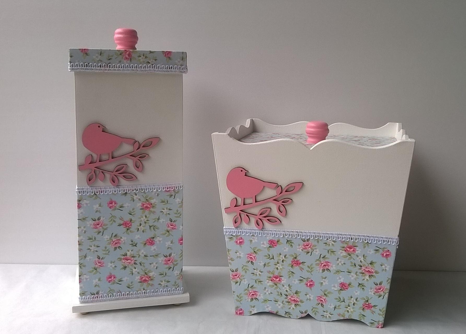 Adesivo De Banheiro Pastilha ~ Kit de banheiro Art Sol Artesanato