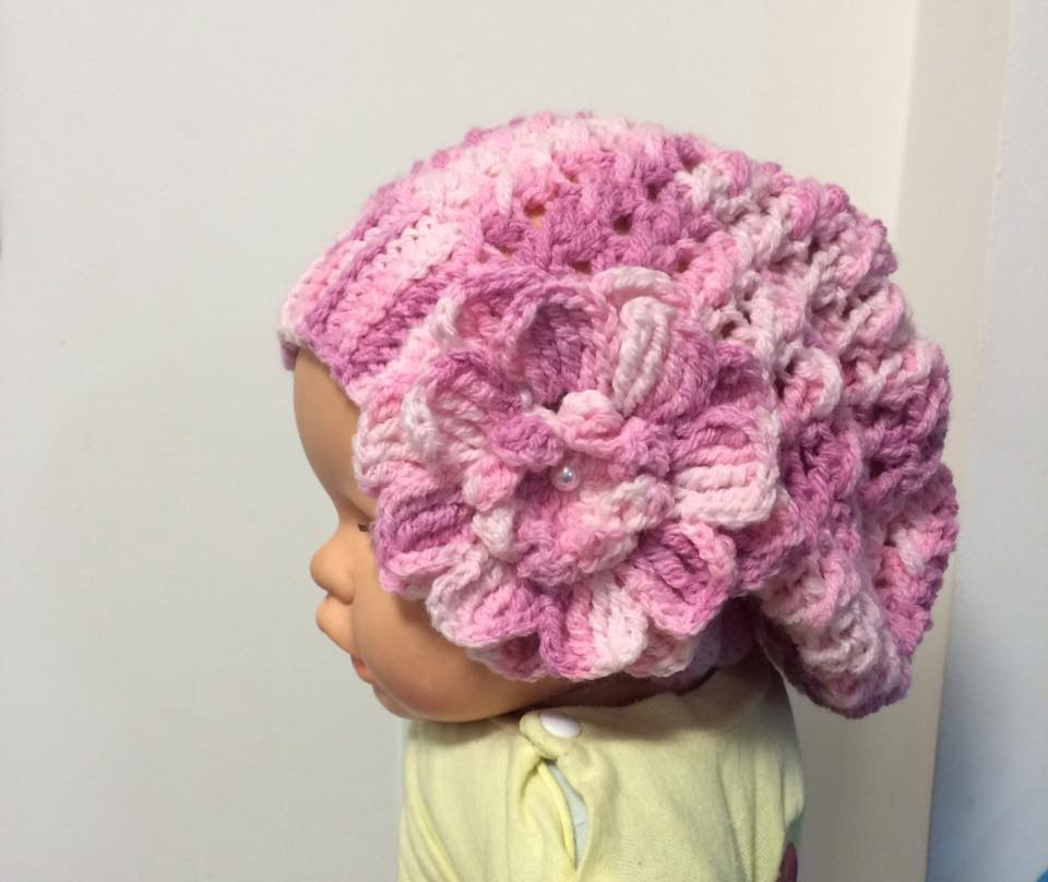 Boina Infantil com Flor  3ec8ad11746