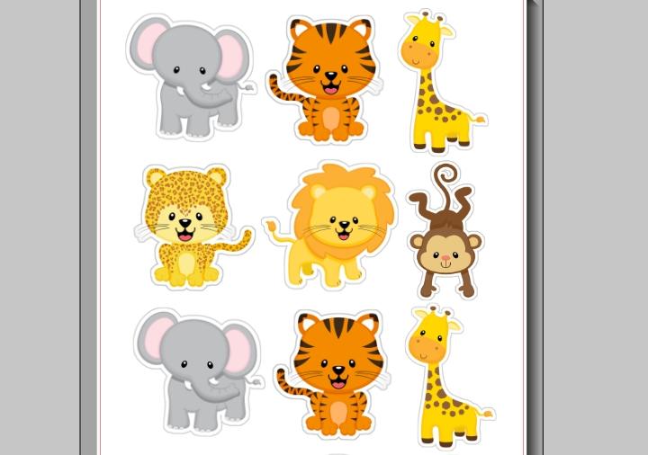Arquivo Animais Safari Para Imprimir