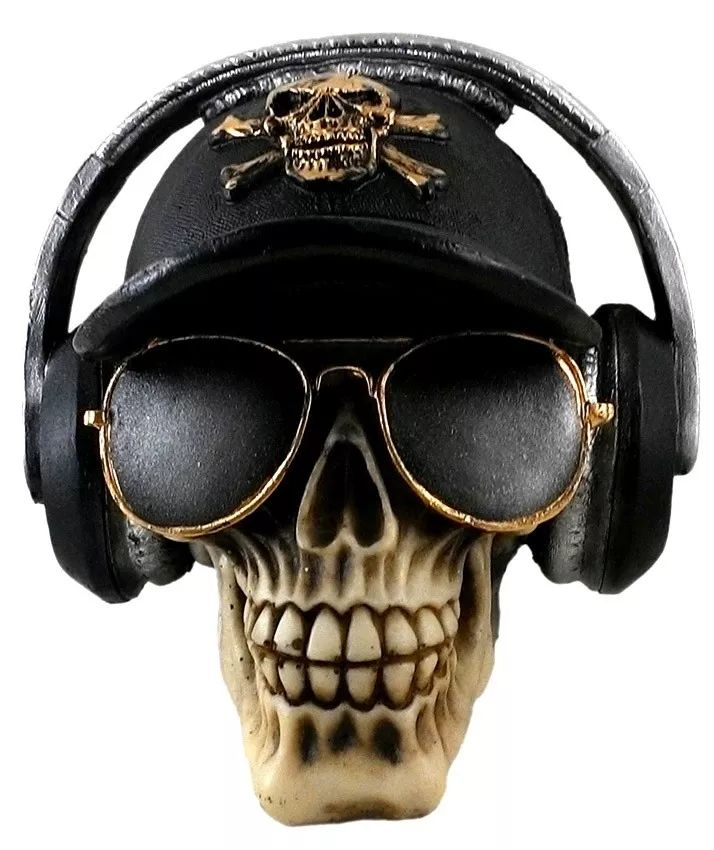 Cranio Bone, Fone De Ouvido Com Óculos no Elo7   Arte-Luz (76722D) 6065fc576e