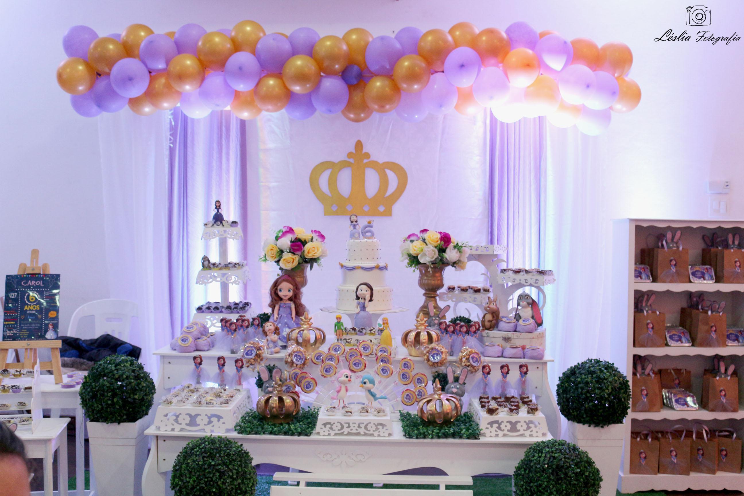 Tema Matrimonio De Amor : Decoração tema princesa sofia festa com amor elo