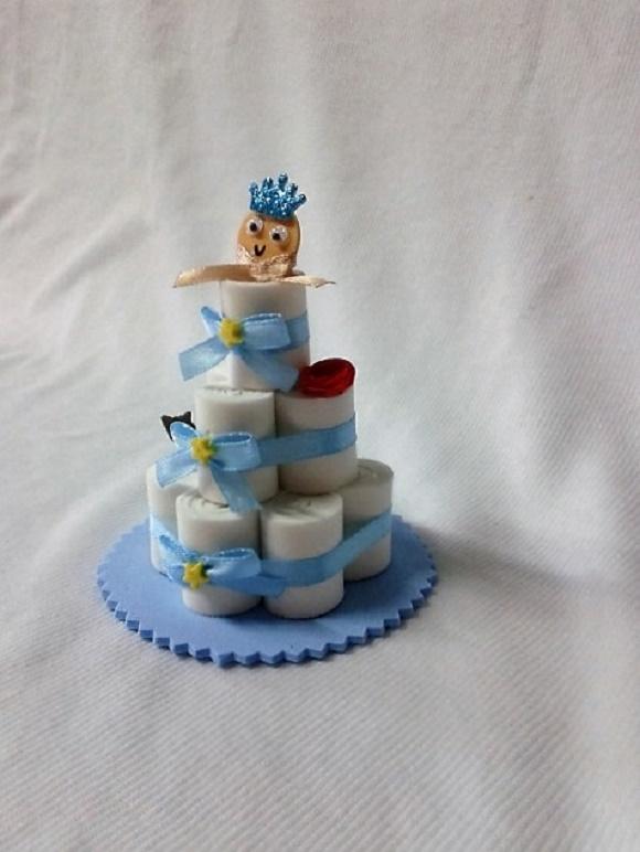 Super Lembrancinha Mini bolo de fraldas no Elo7 | Laços Carinhosos (767FC3) OV64