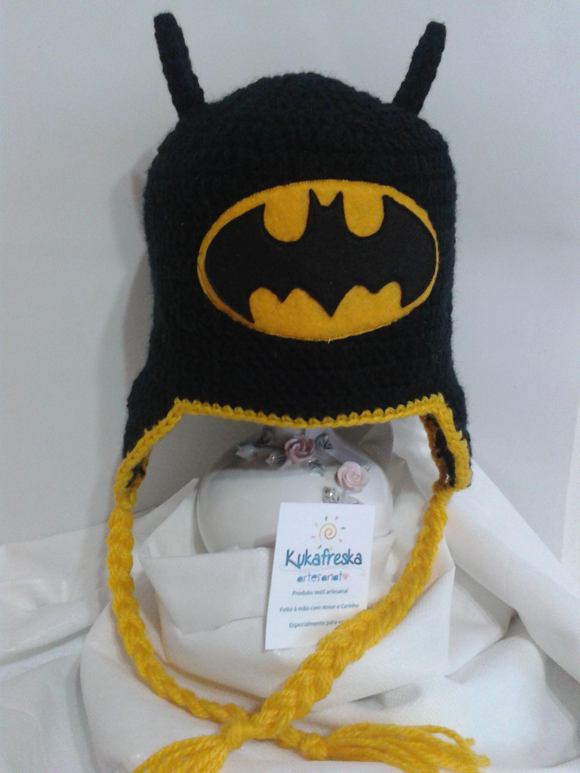 Gorro Touca Croche Batman Menino  4fa4aedcff3