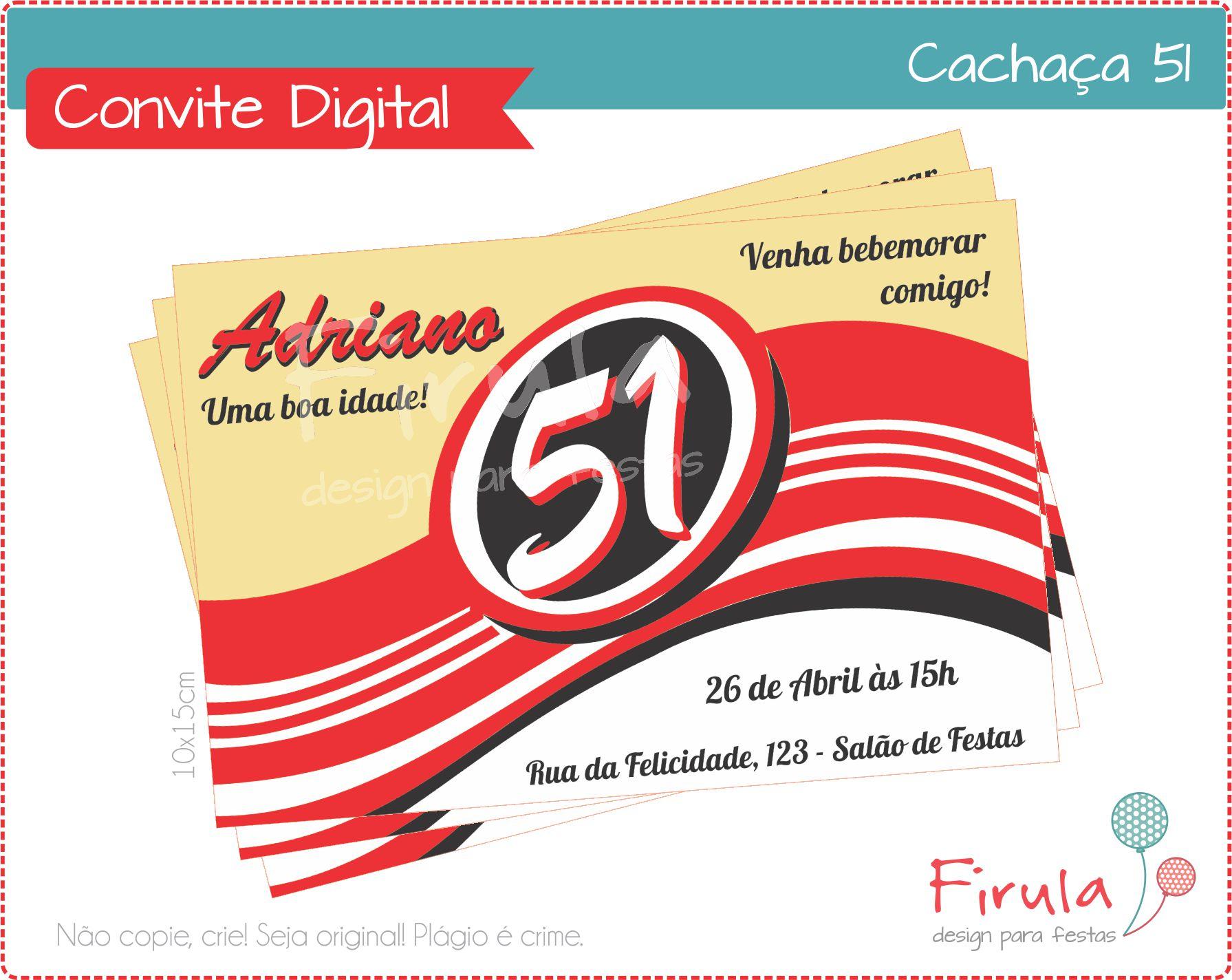 Convite Digital Boteco Cachaca No Elo7 Firula Festas 76ee6a