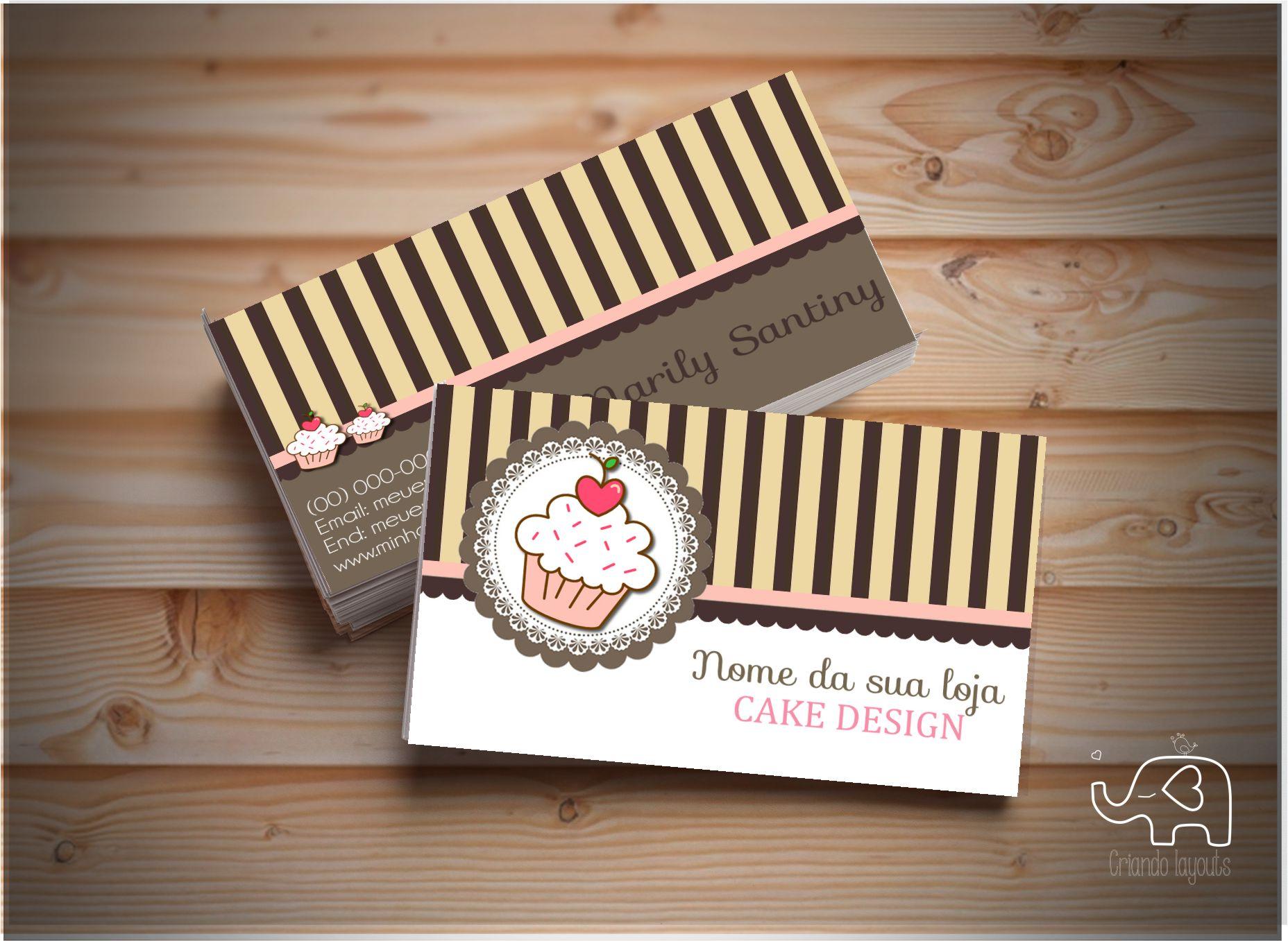 Preferência Cartão De Visita #002 Cake c/ 500 und no Elo7 | Criando Layouts  CK21