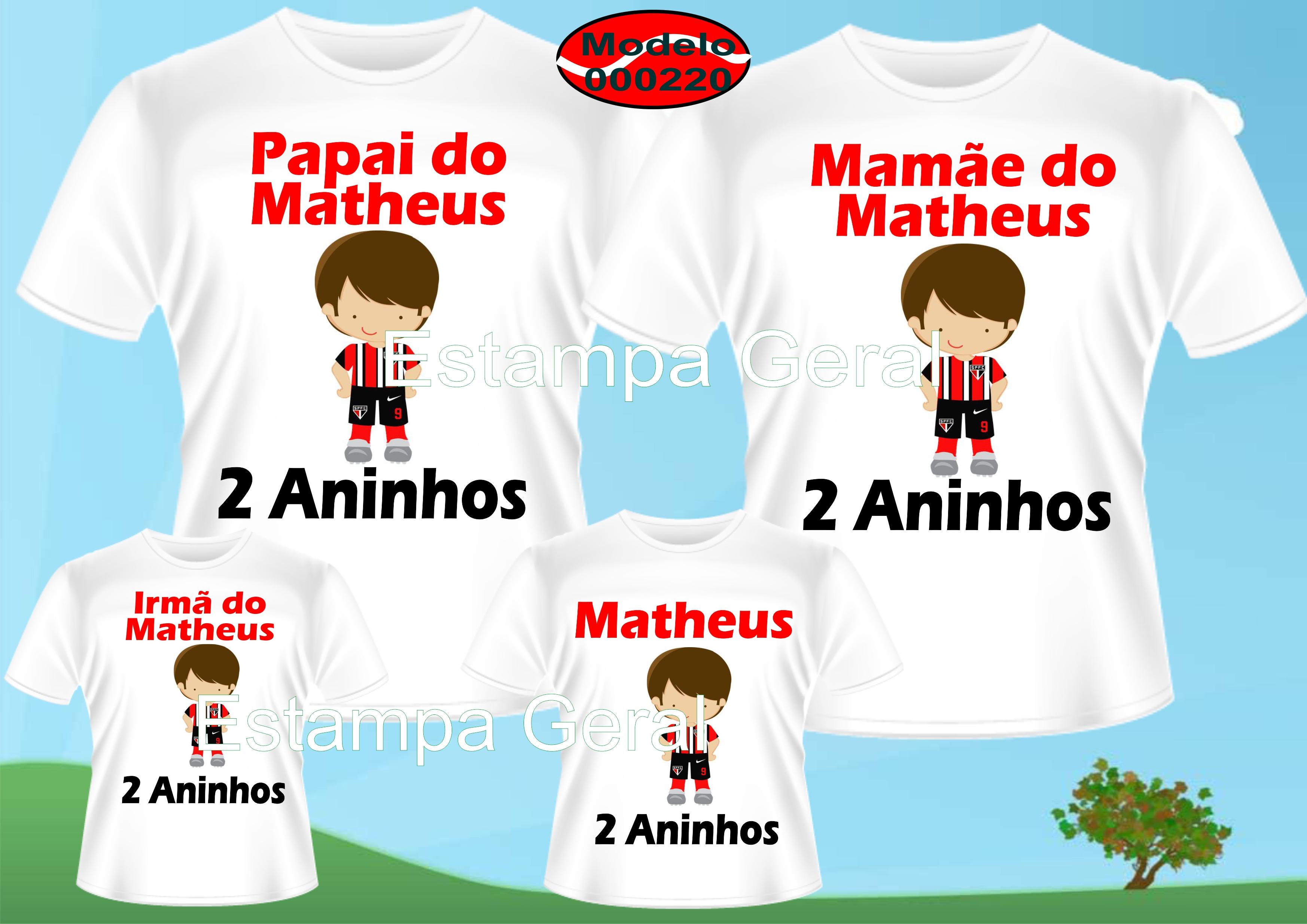 0d7a8de4a4 Camiseta personalizadas Futebol Time c 4 no Elo7