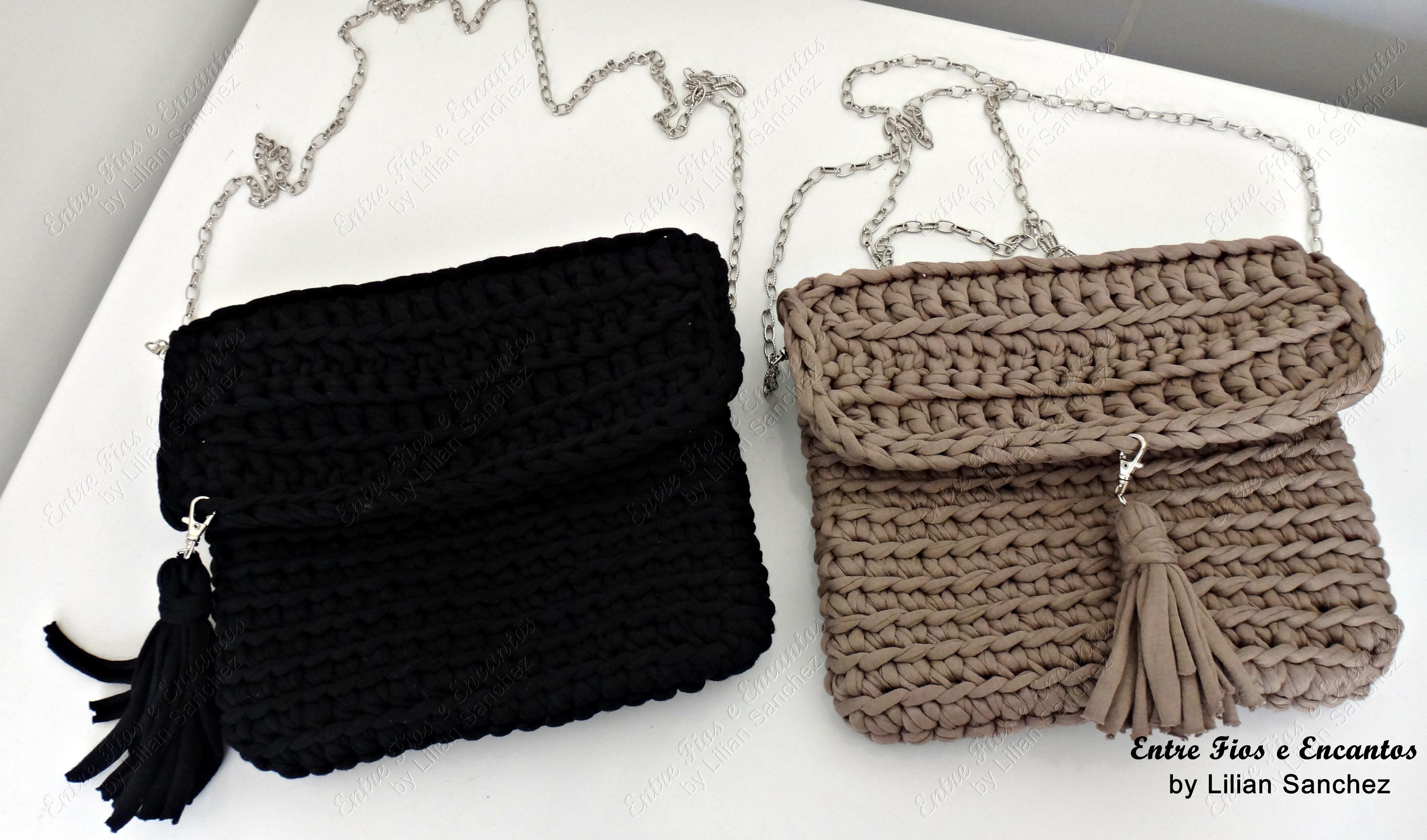 Bolsa De Festa Em Croche Passo A Passo : Bolsa festa croch? fio de malha entre fios e encantos elo