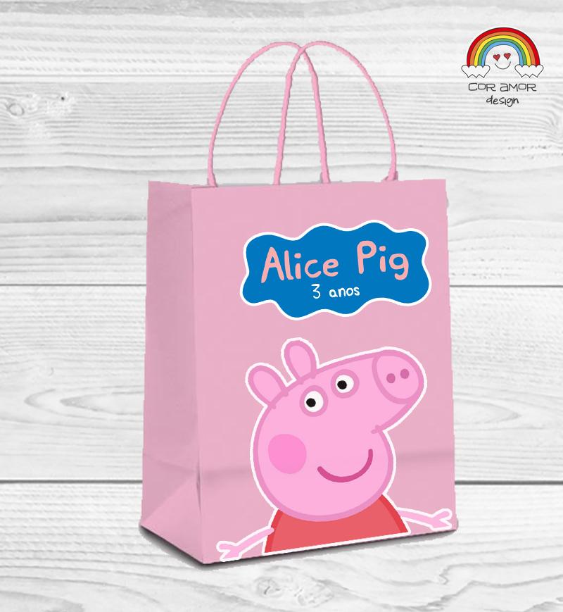 f8ff34053 Sacola de Papel Peppa Pig no Elo7 | Cor Amor Design (778B49)