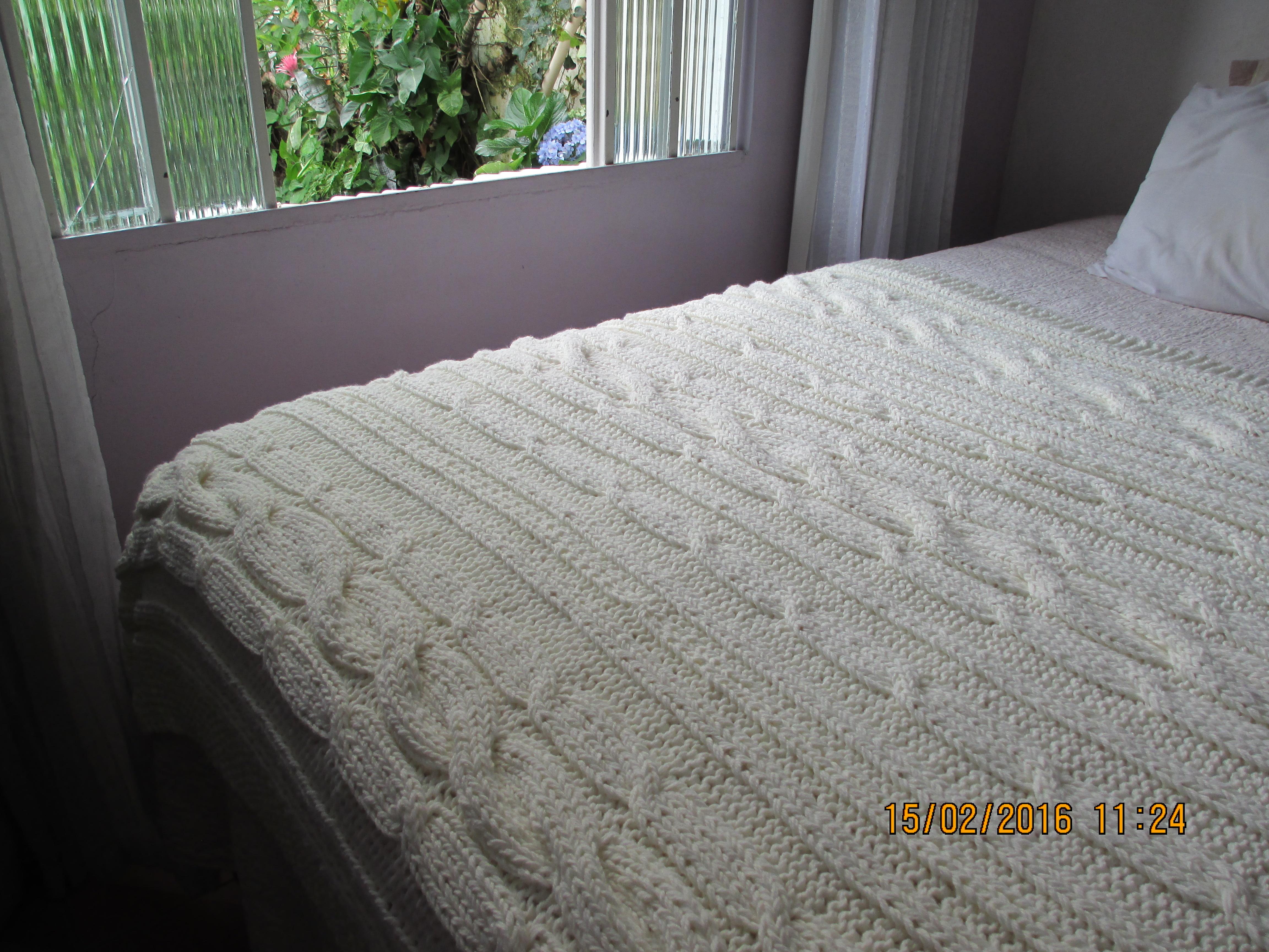 Manta de tric para cama queen fatto a mano tric e - Ikea mantas para camas ...