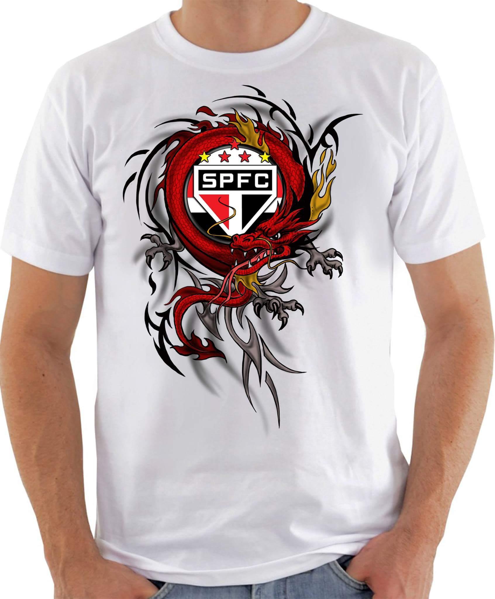 69d7179388 Camiseta torcedor São paulino no Elo7