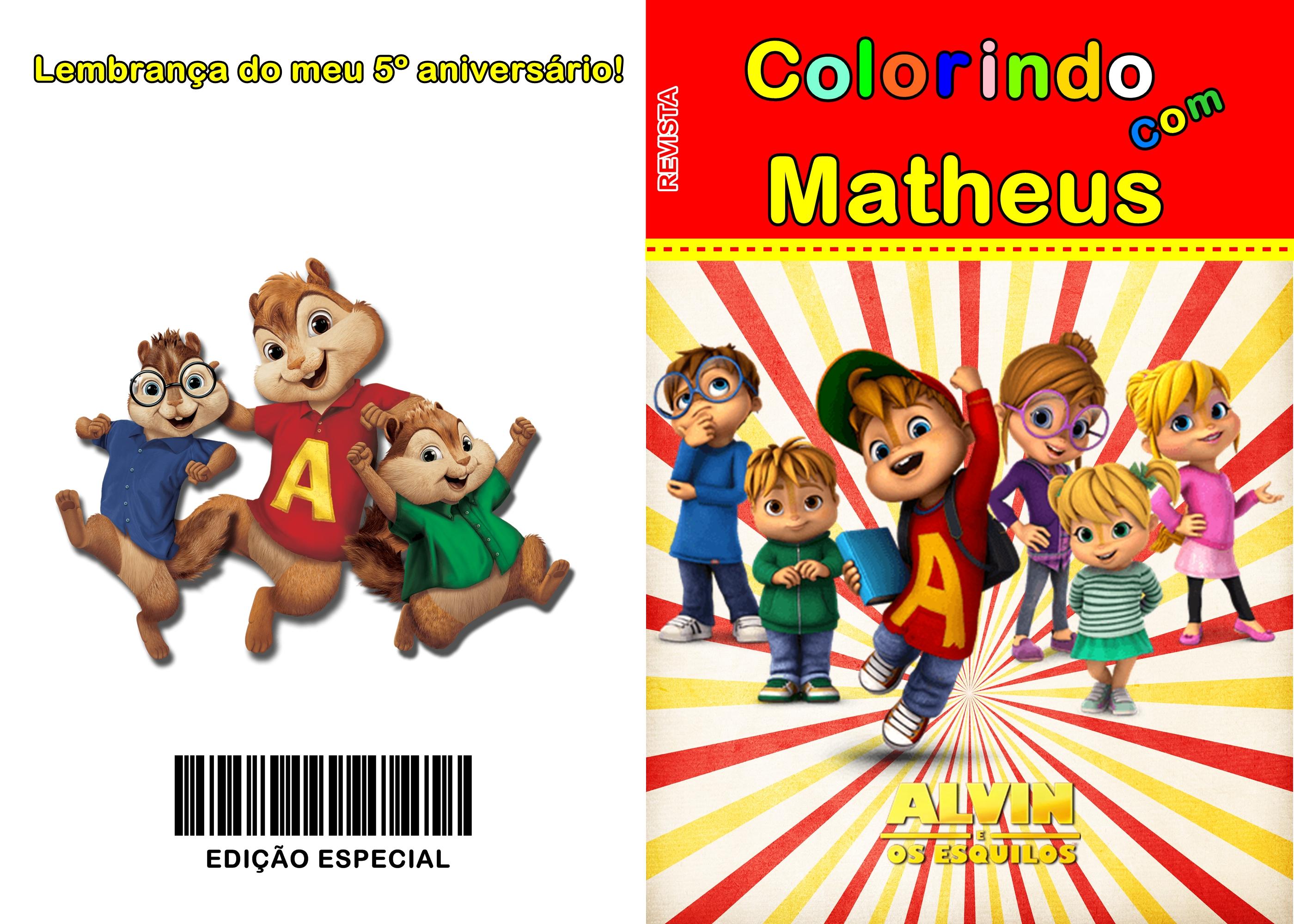Revista Para Colorir Alvin E Os Esquilos No Elo7 Atelie Da Babi