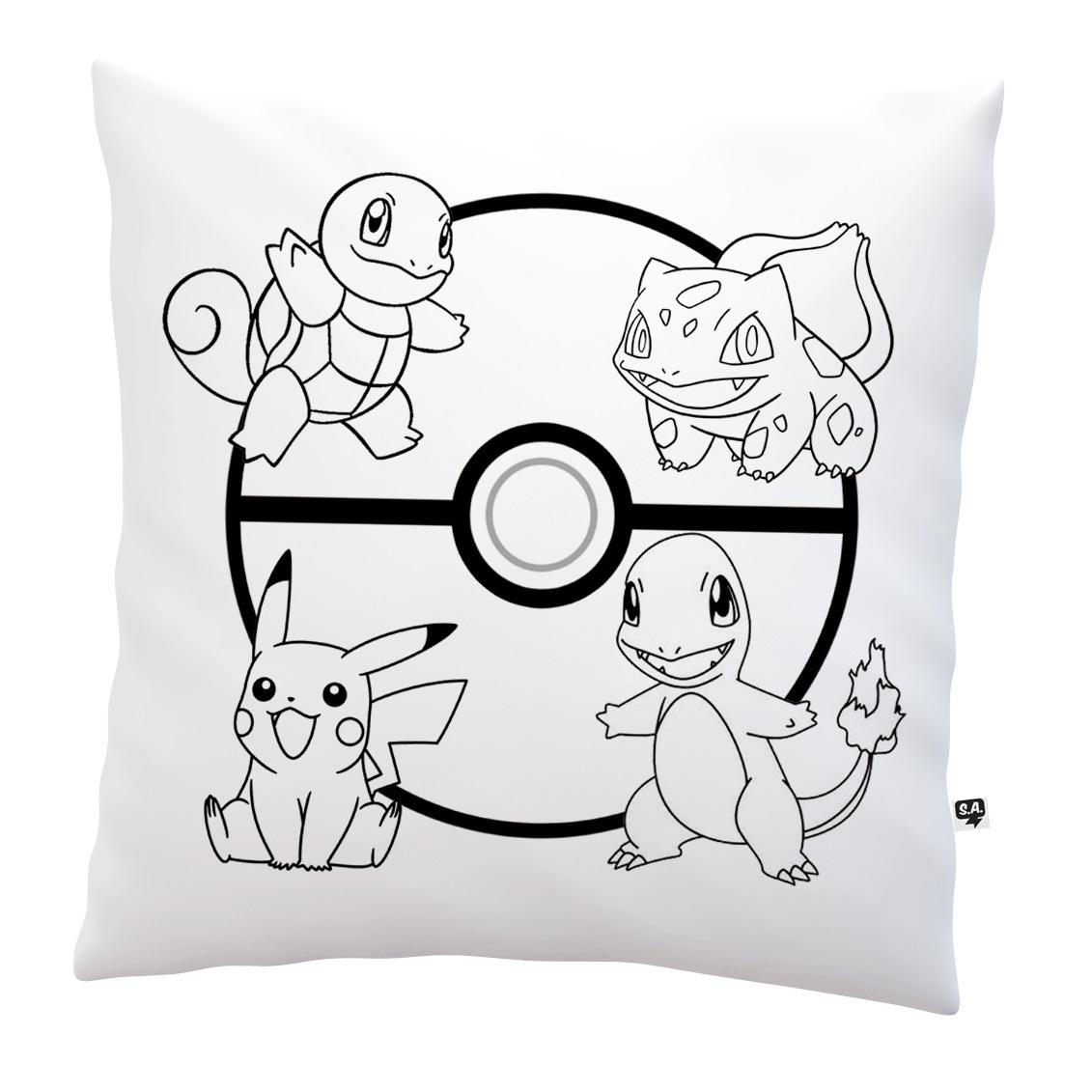 almofada para colorir pokemon no elo7 camiseteria sa 784f35