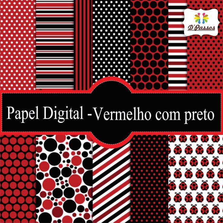 226cb6b784c Papeis Digitais Vermelha