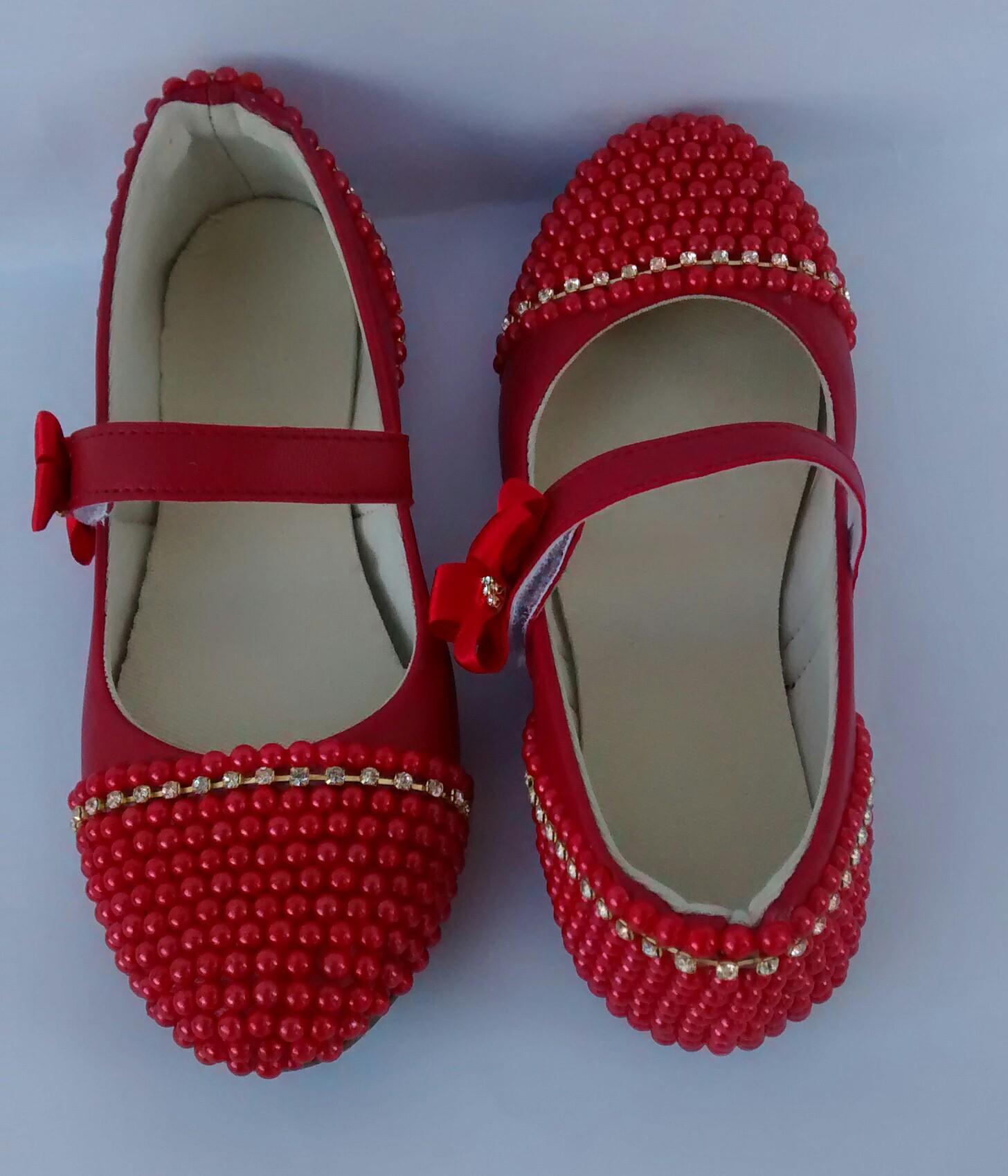 8ac8b728df Sapato Vermelho de Festa Infantil