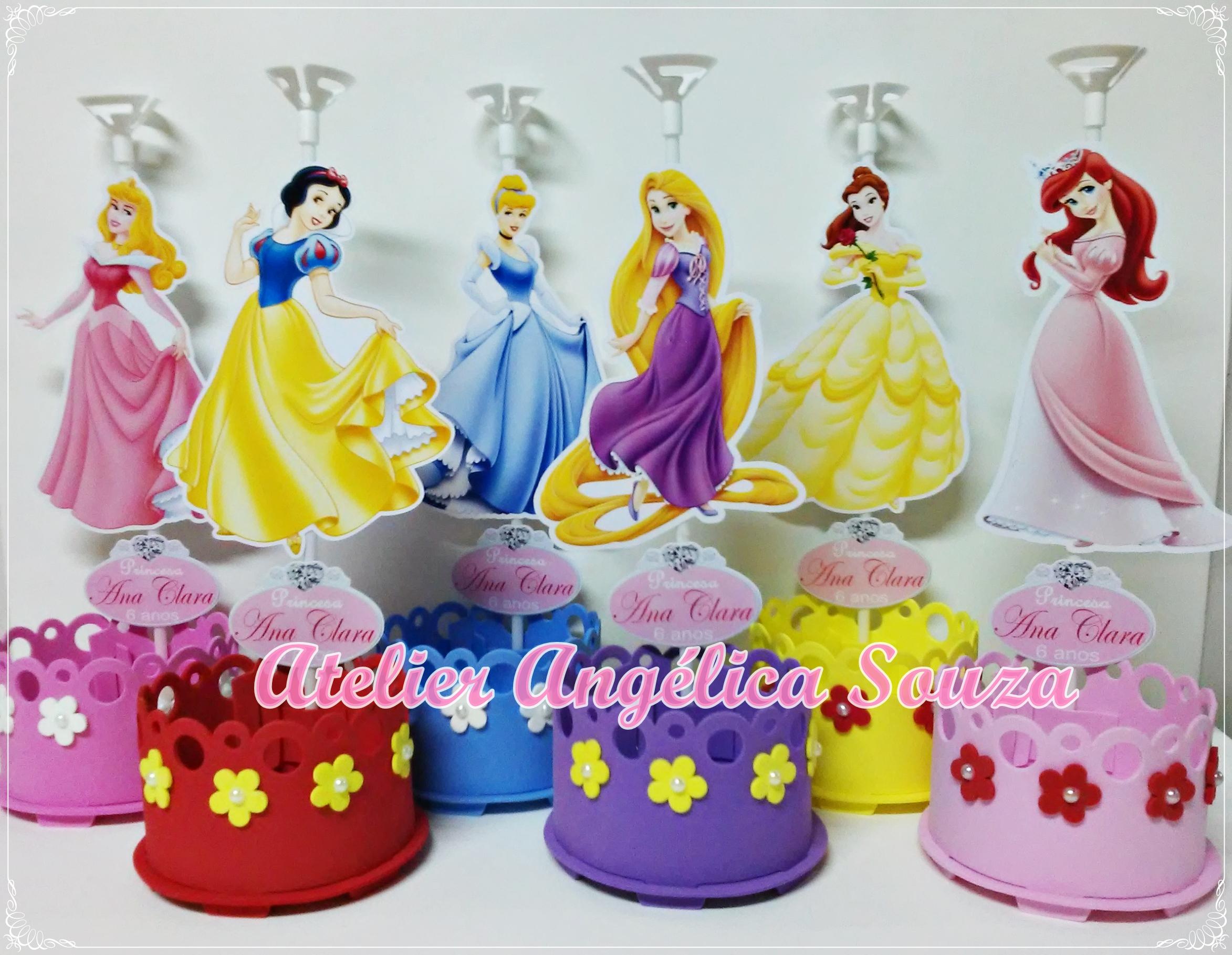 Suficiente Centro de mesa Princesas Disney no Elo7 | Atelier Angélica Souza  WT44