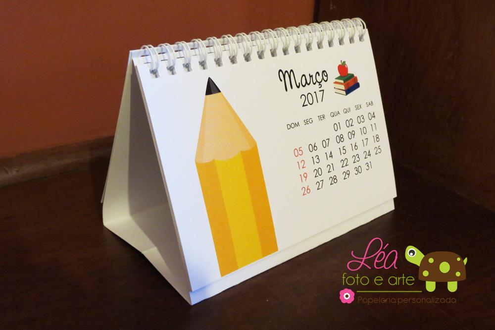 Calend rio de mesa 2017 professoras l a foto e arte - Calendario de mesa ...
