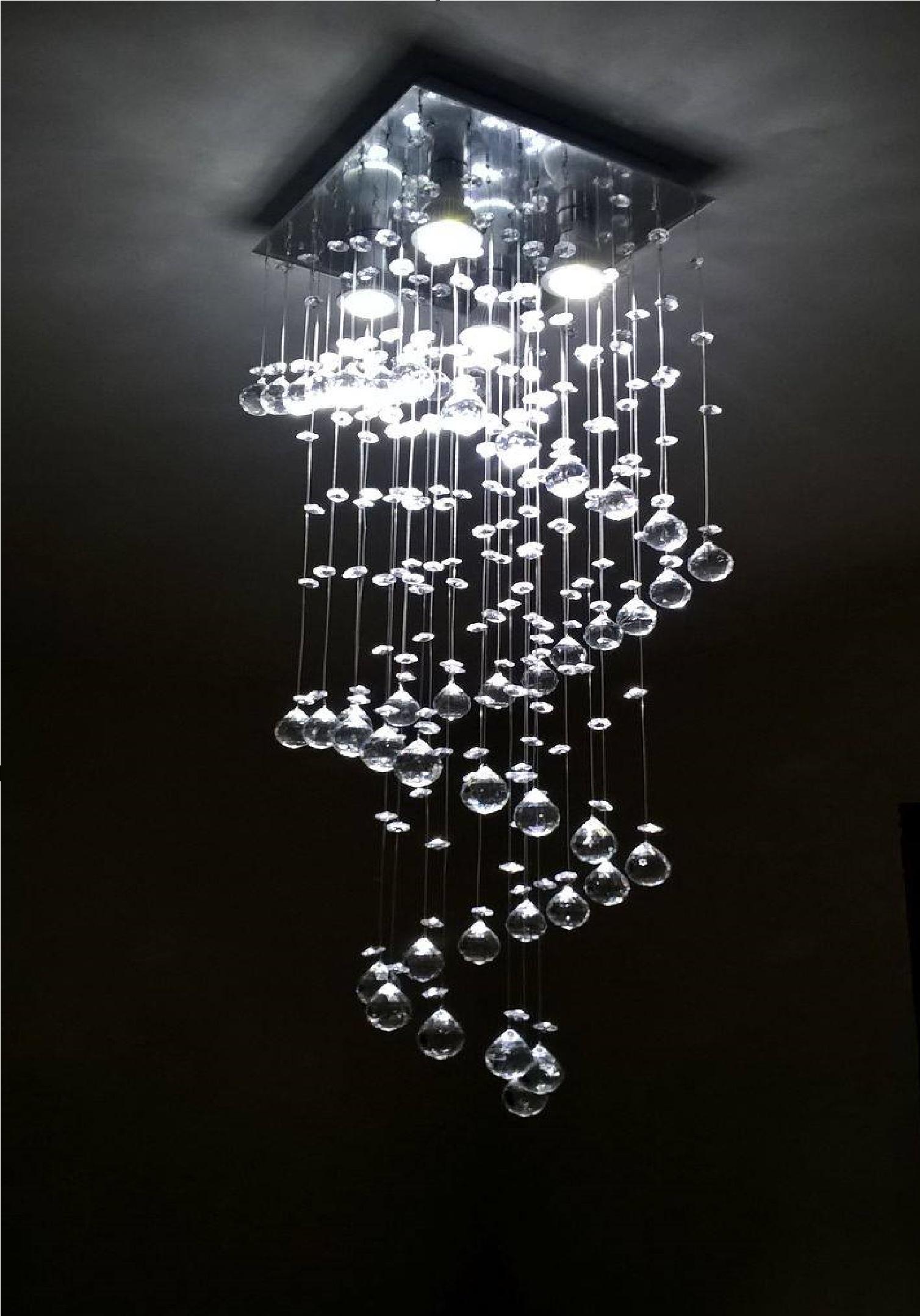 Lustre de cristal acrílico para salas CINTILANTE Elo7