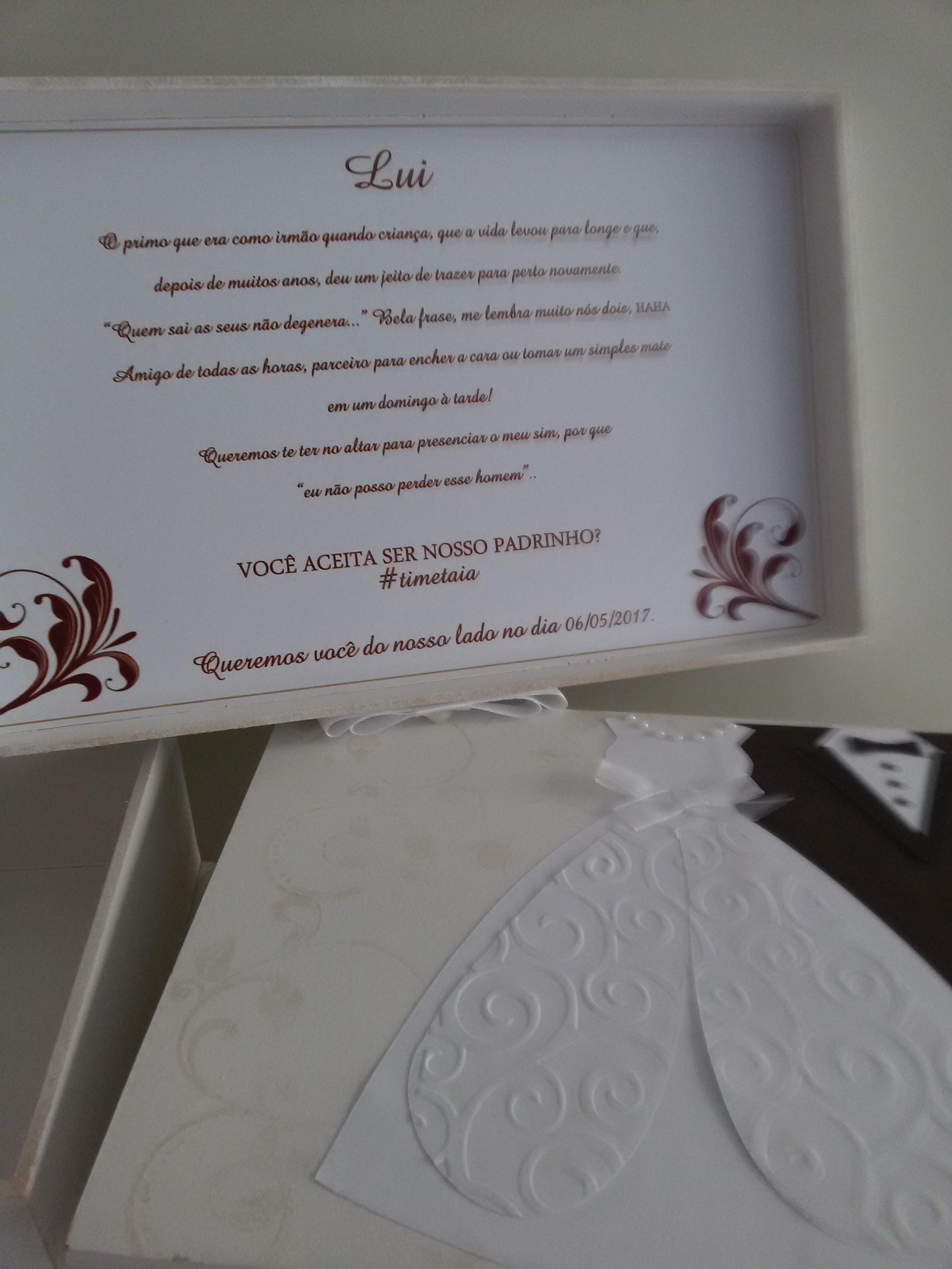 Caixa Convite Padrinhos Casamento No Elo7 Ateliê Josi Oliveira