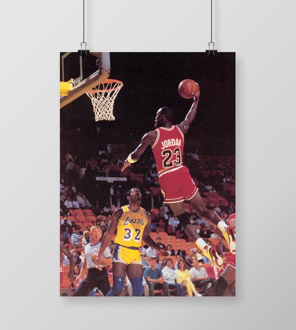 4ff225ca42a Quadro Decorativo Michael Jordan 23 com Tela em Tecido