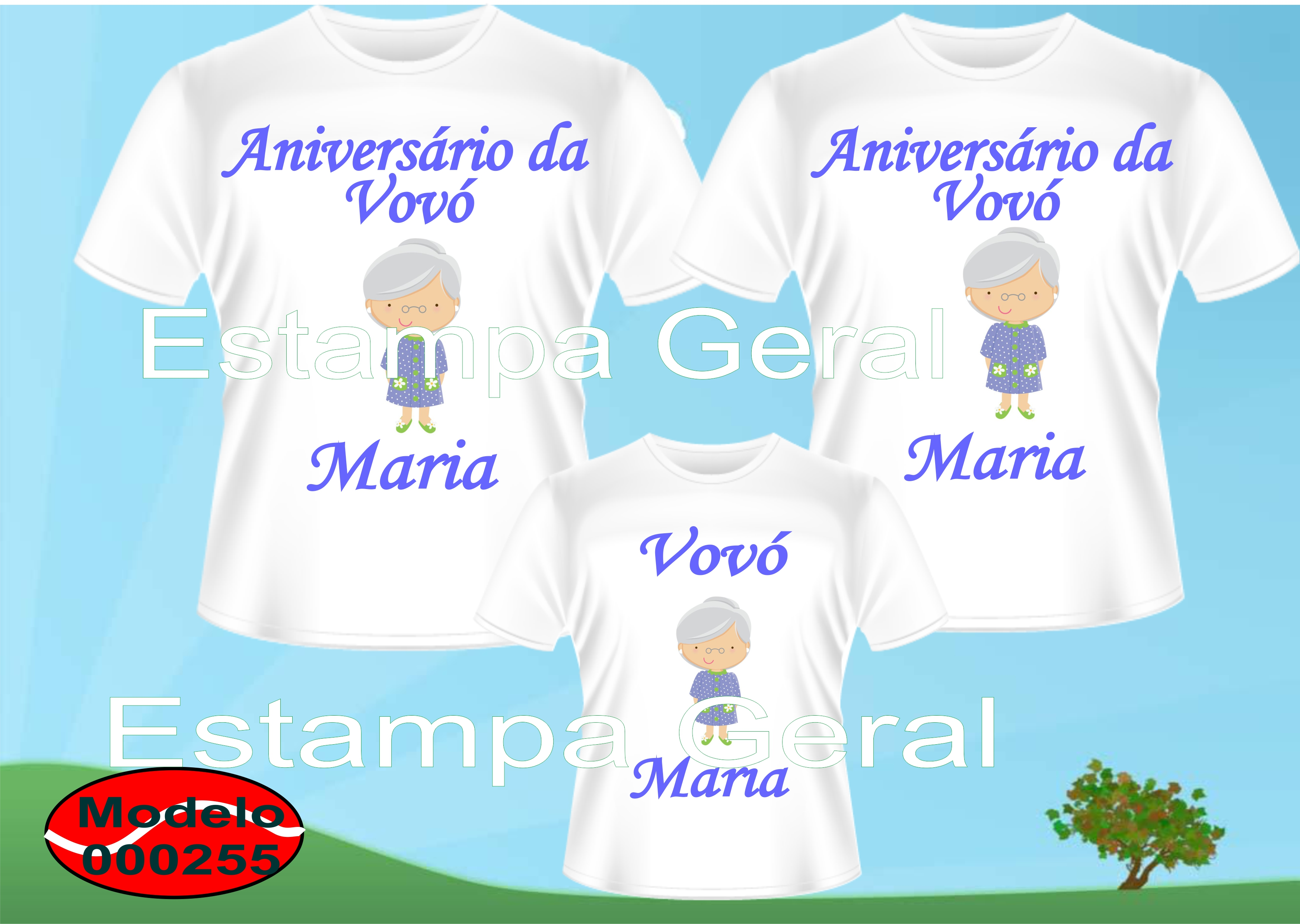 Camiseta Personalizada Vovó Elo7