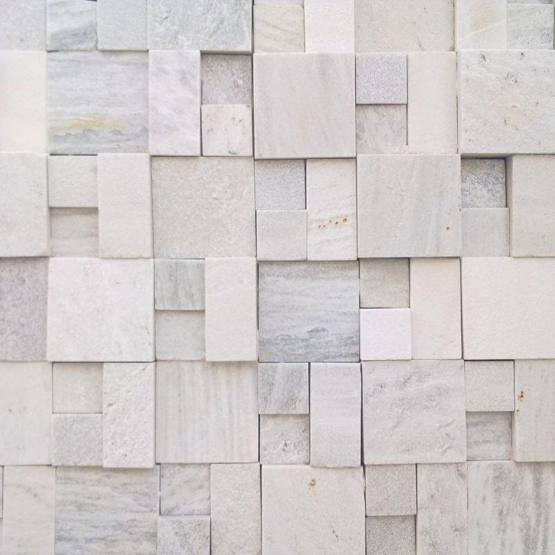 Papel de parede pedras mosaico s o tom c m decora es for Mosaico adesivo 3d