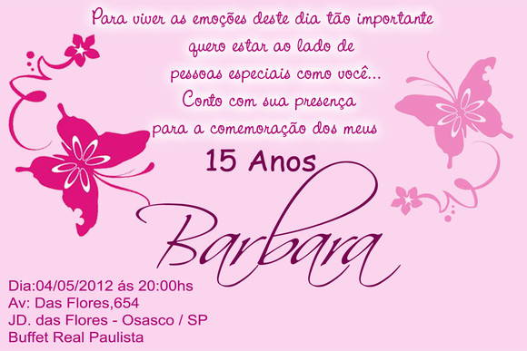 Convite 10x15 Cm No Elo7 Leticia Faria Brindes 79d80b