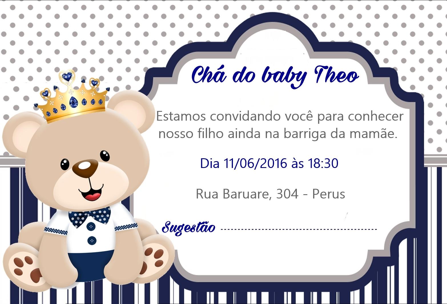 Convite Chá De Bebê Ursinho No Elo7 Mimi Festas 73e518