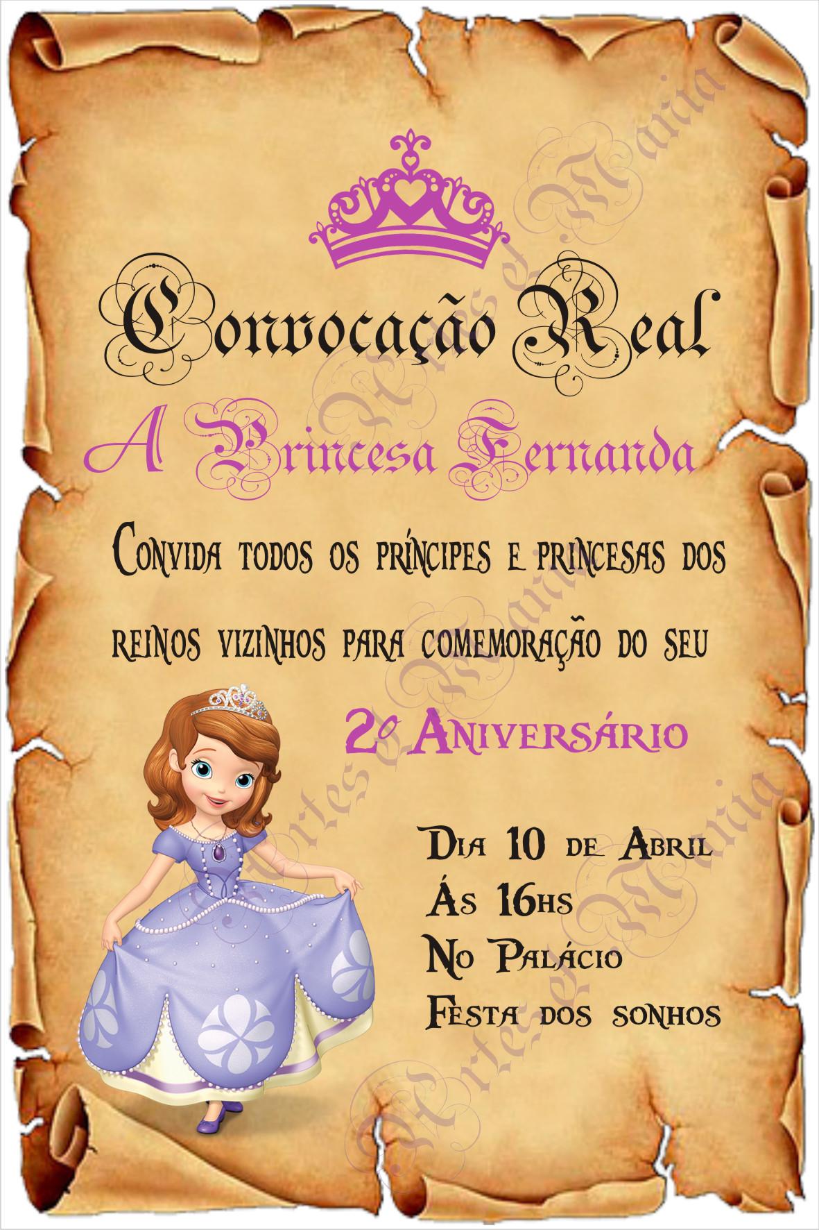 Arte Digital Convite Pergaminho P Sofia No Elo7 Artes Mania