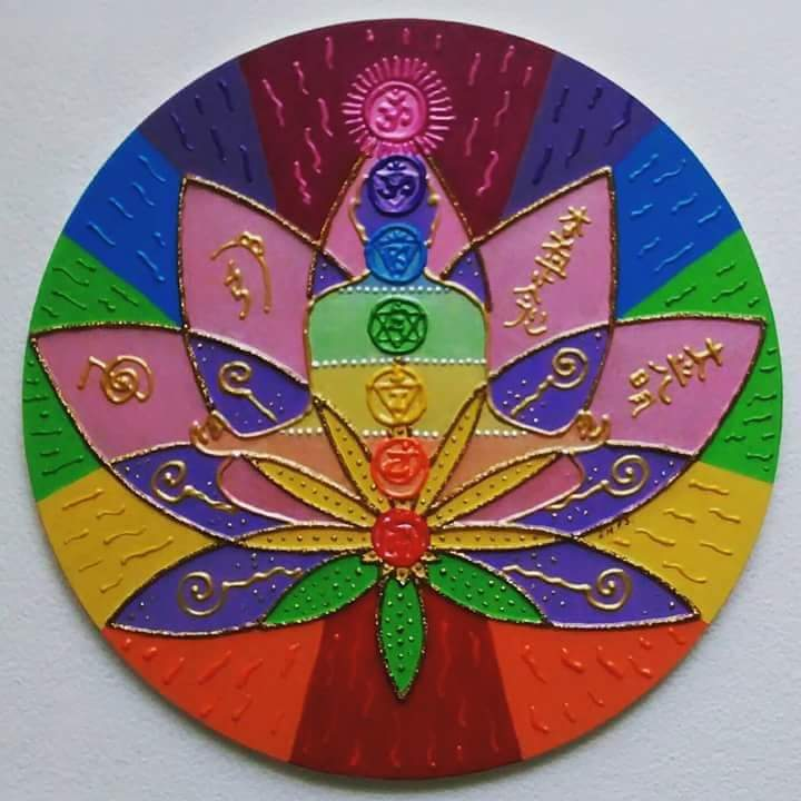 Mandala Mdf Reiki Flor De Lótus 30cm No Elo7 Ateliê Das Mandalas