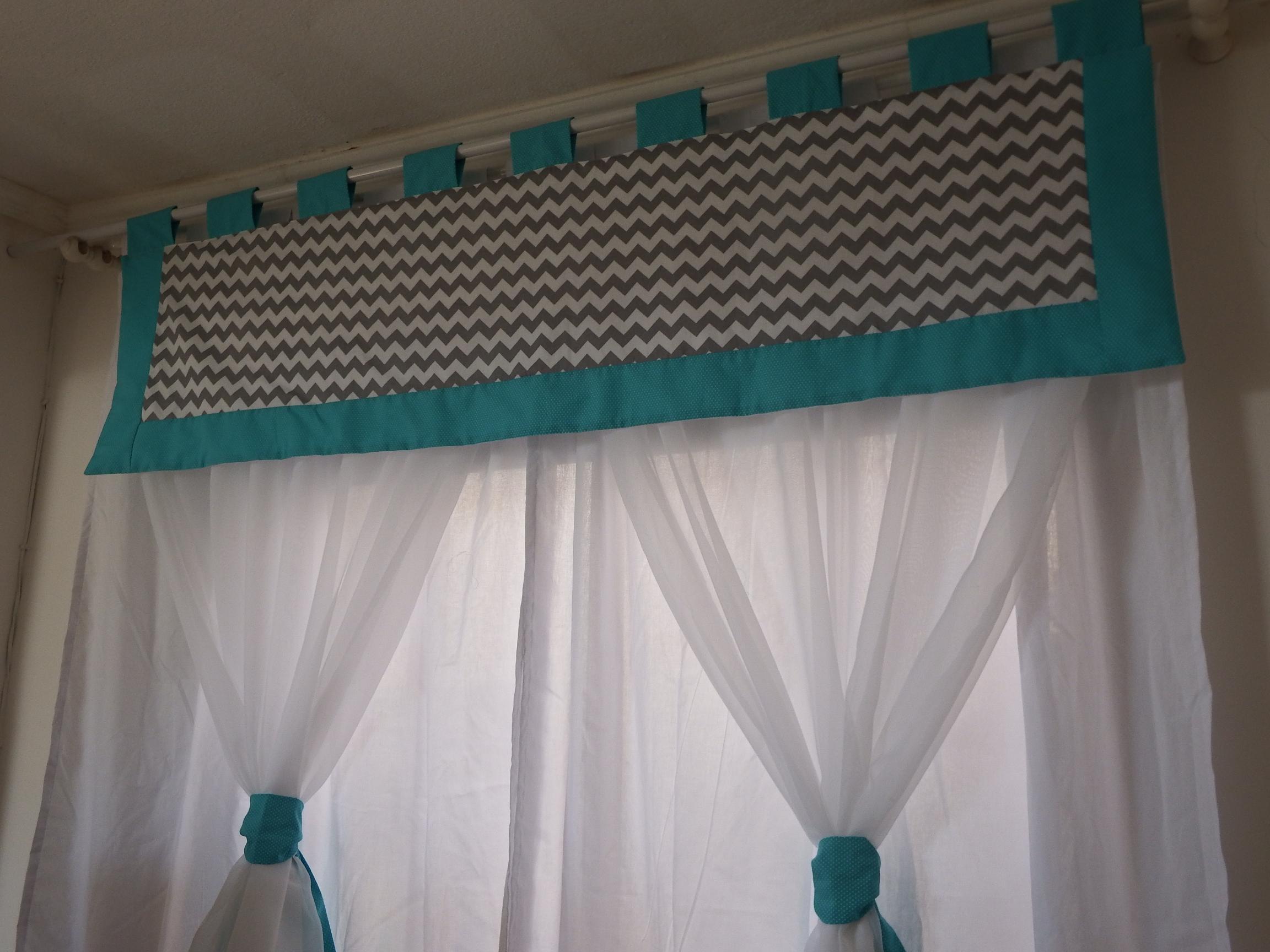 cortina quarto chevron verde gua voil cabedario baby elo7