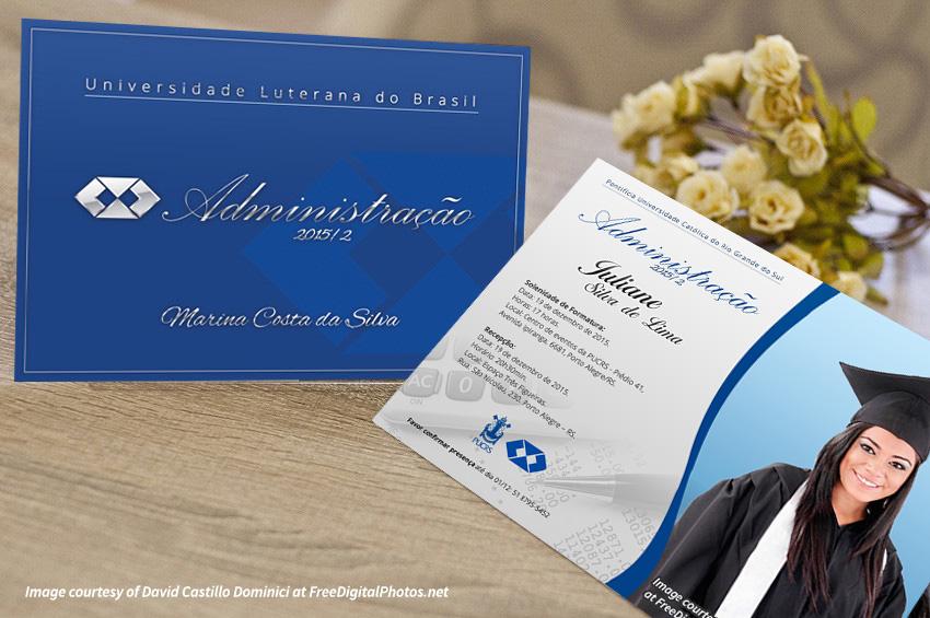 Convite Formatura Administração Elo7