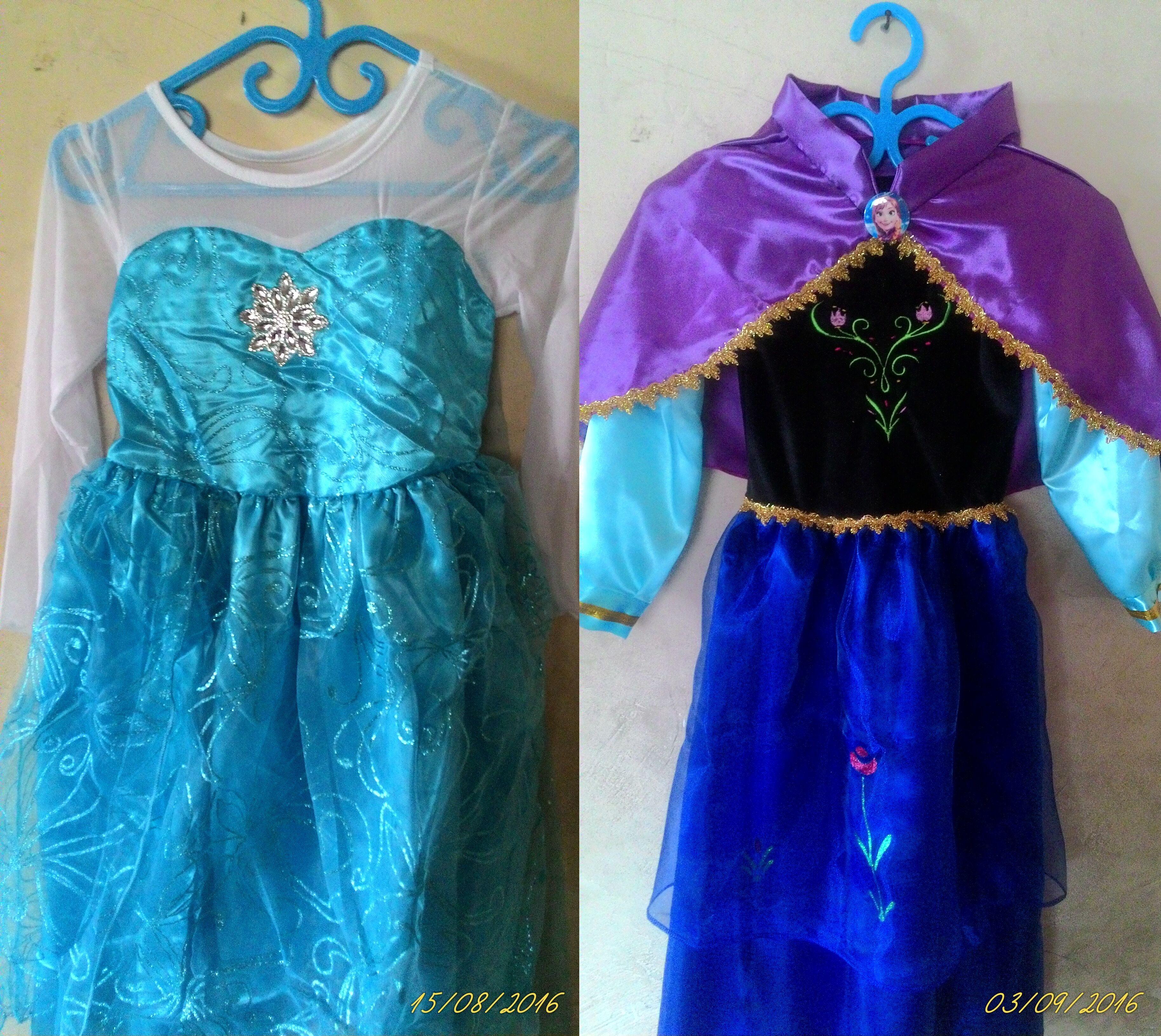 Fantasia Vestido Frozen Anna E Elsa