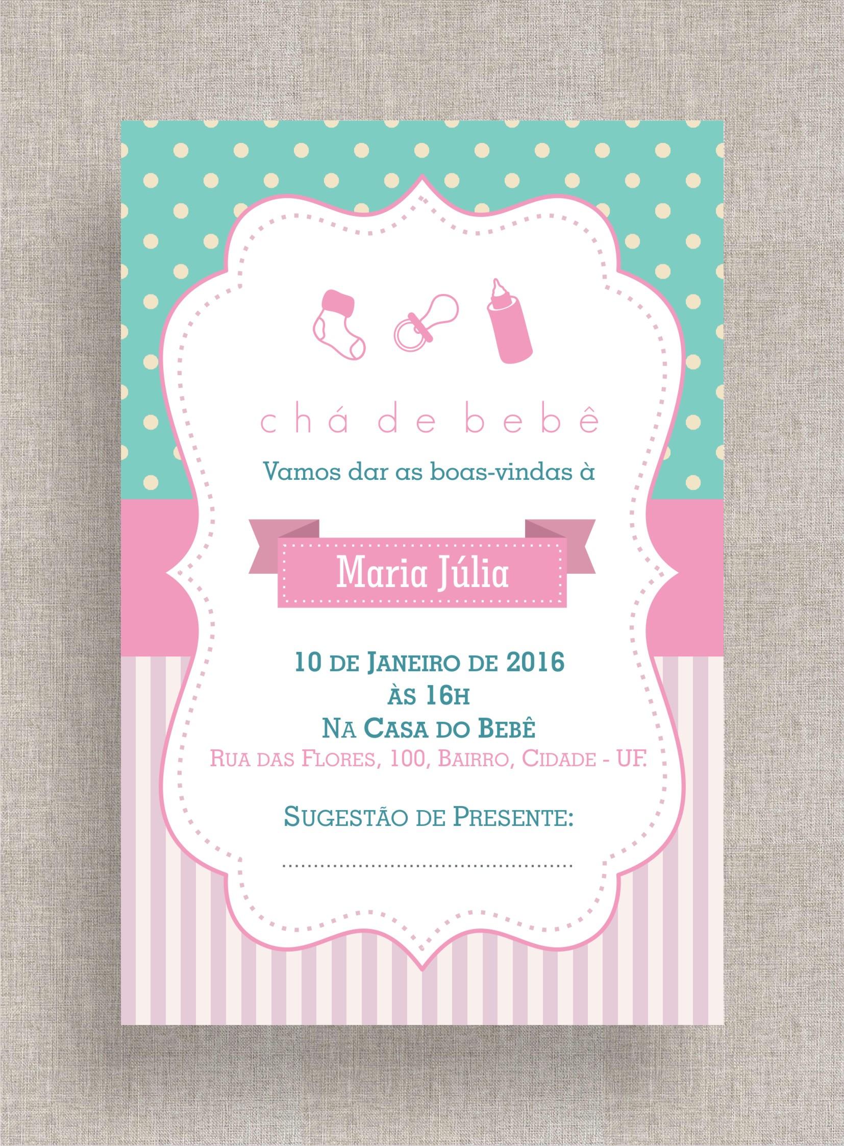 Convite Digital Chá De Fraldas 15 No Elo7 A Ana Faz 7aa12f