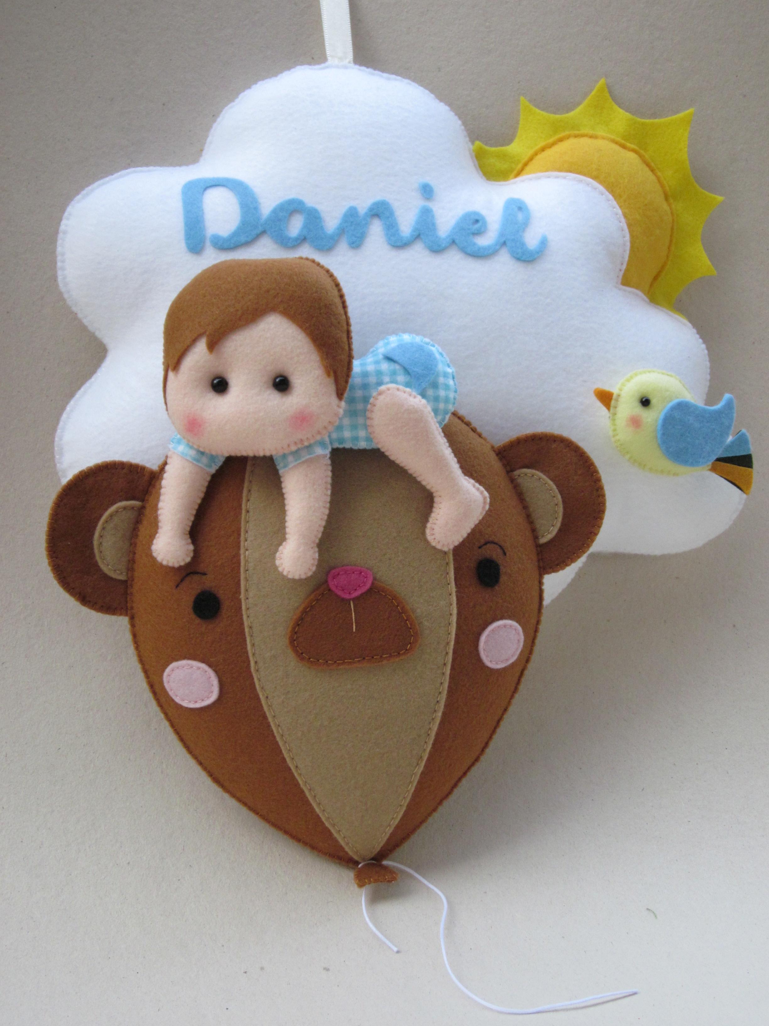 Amado Enfeite porta maternidade menino nuvem no Elo7   Ateliê Thais ZC11 4ef7bda017