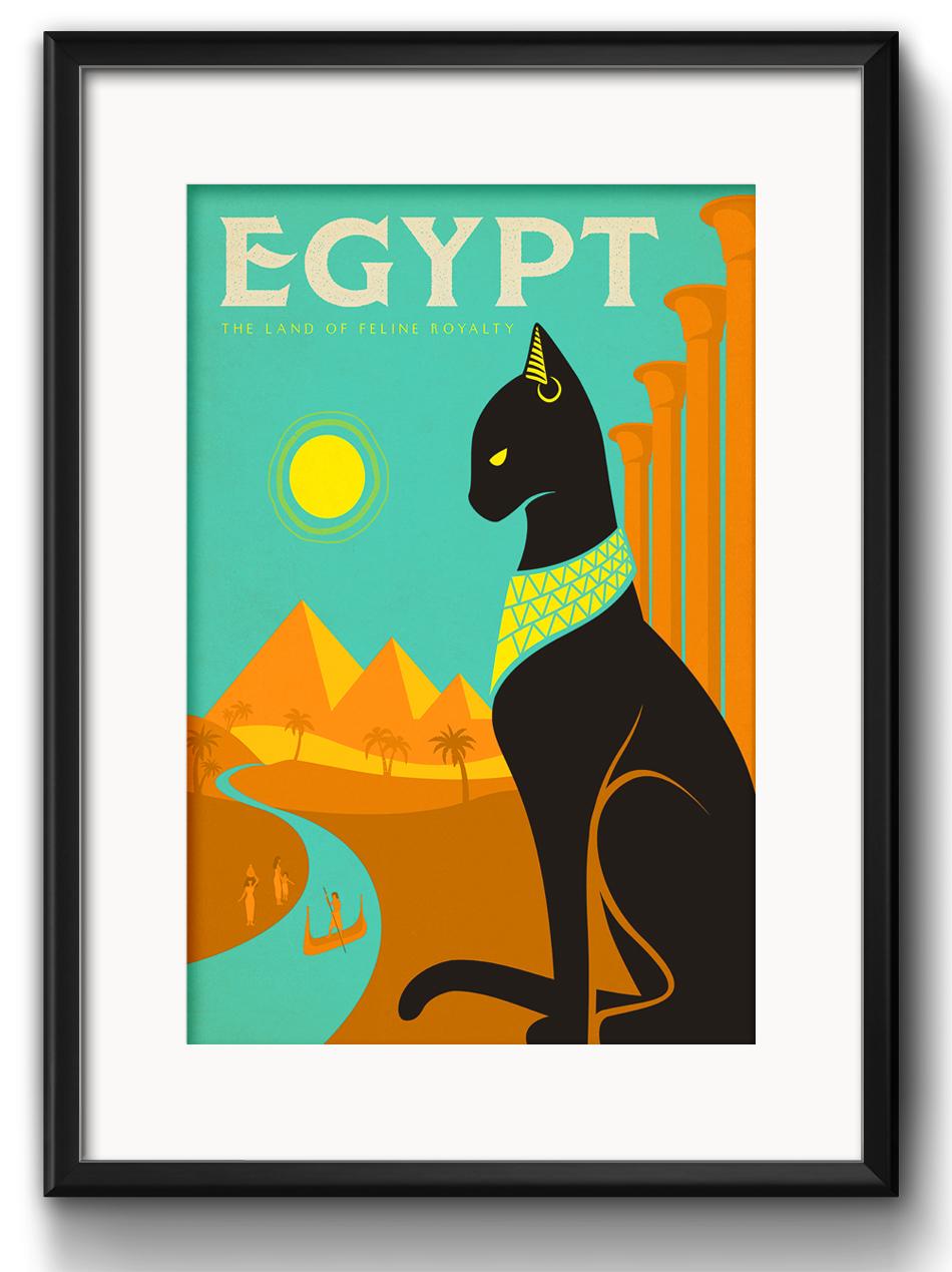 Quadro Gato Cleopatra Egito Decoracao com Paspatur   Elo7 cc5307a02e