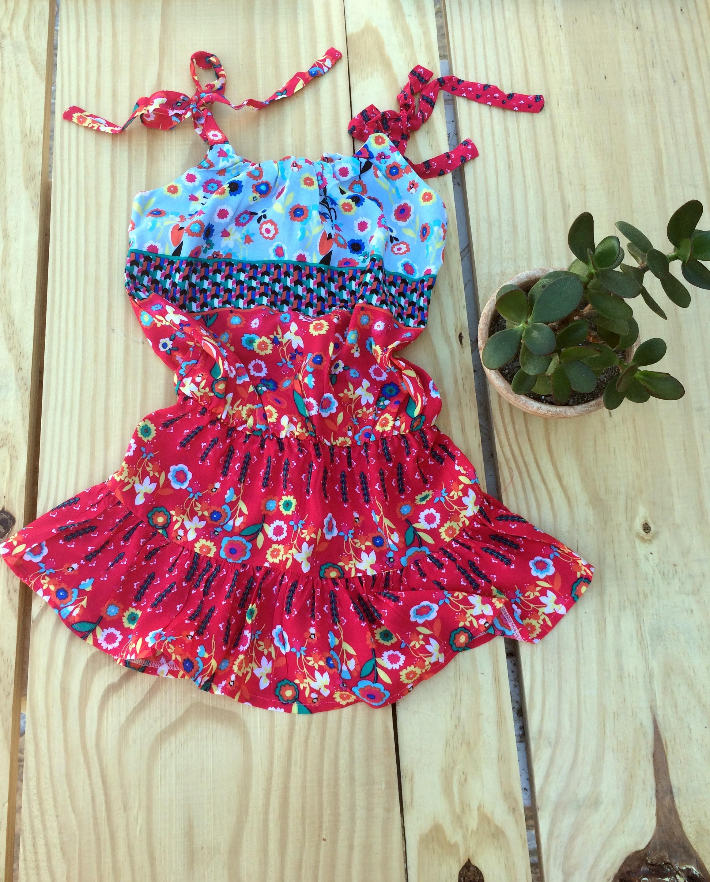 Muito Vestido Infantil Estampado Verão 2/3 anos no Elo7 | Nina Baunilha  YD18