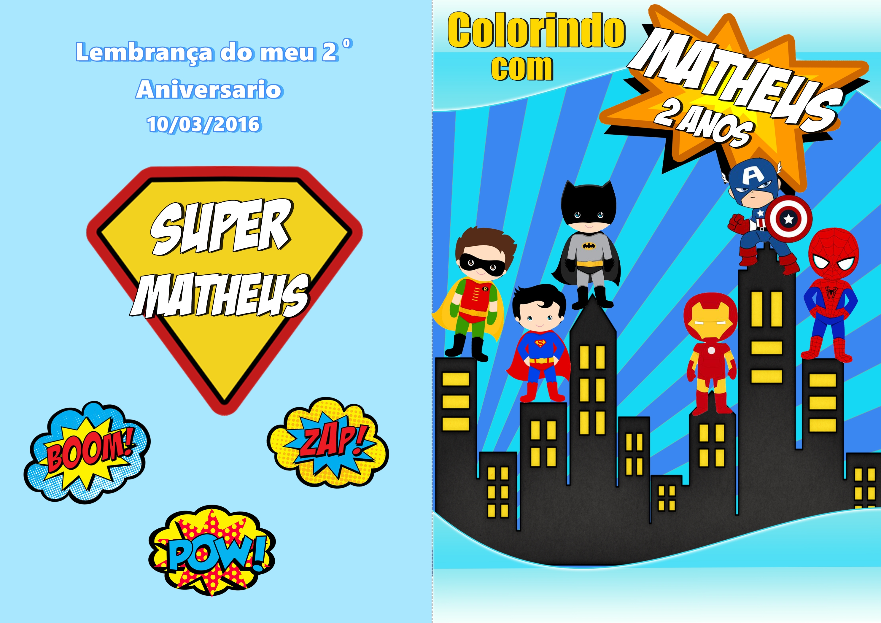 Capa Para Livro De Colorir Super Herois No Elo7 Jacque Arte