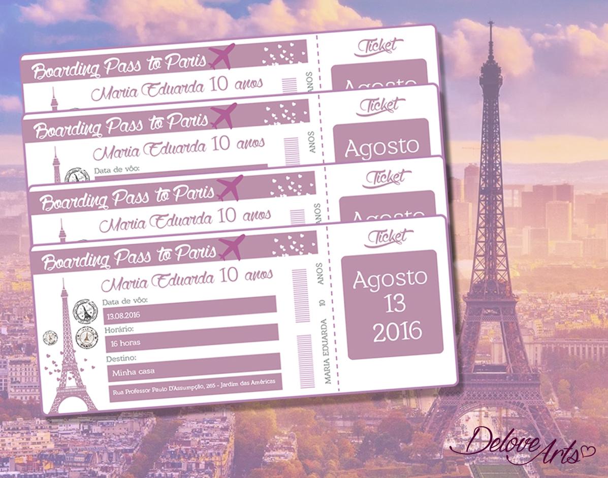 Convite Passaporte Paris No Elo7 Delove Arts 7b273d