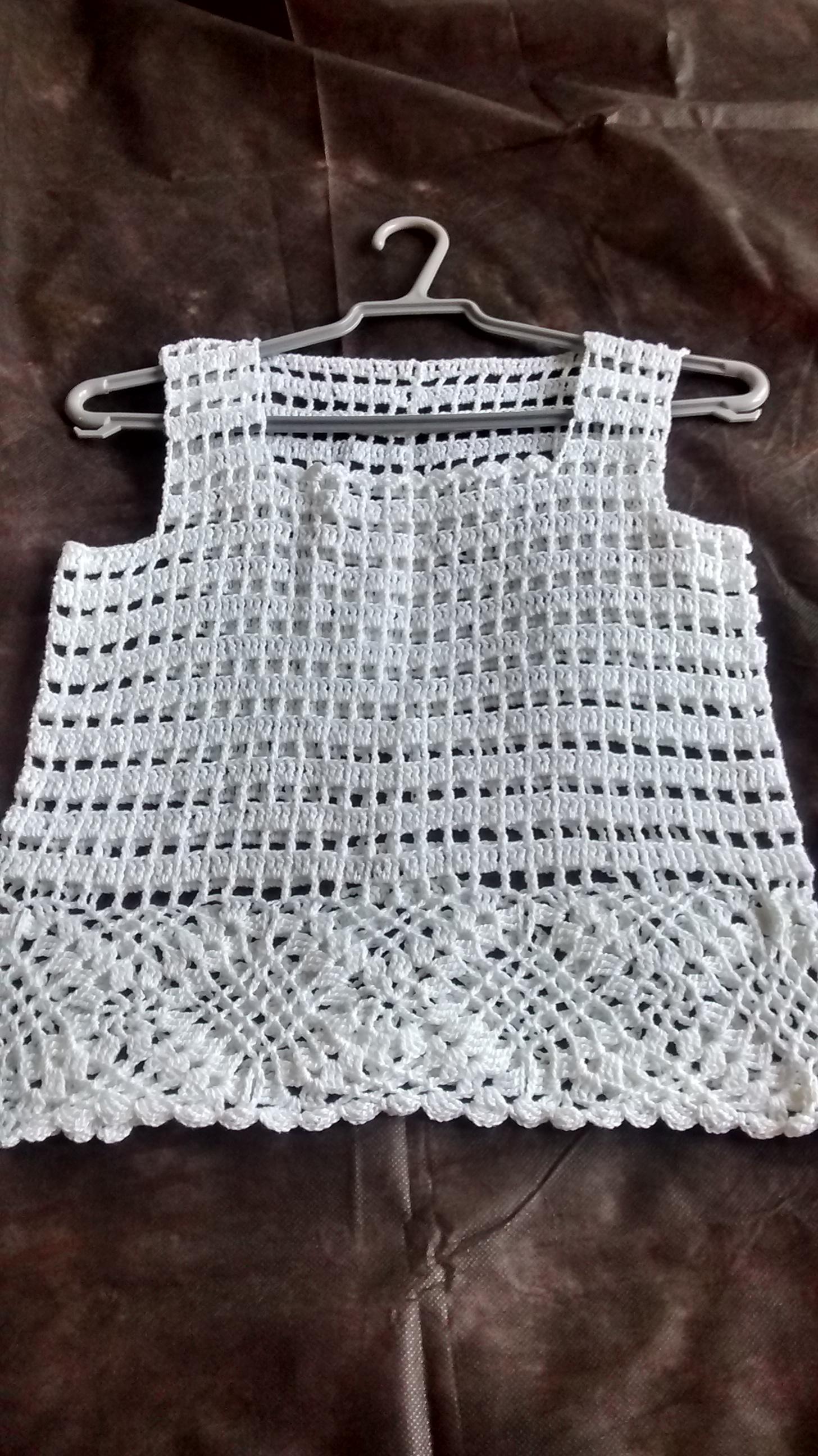 57ea855c86 Blusa de linha branca em crochê no Elo7