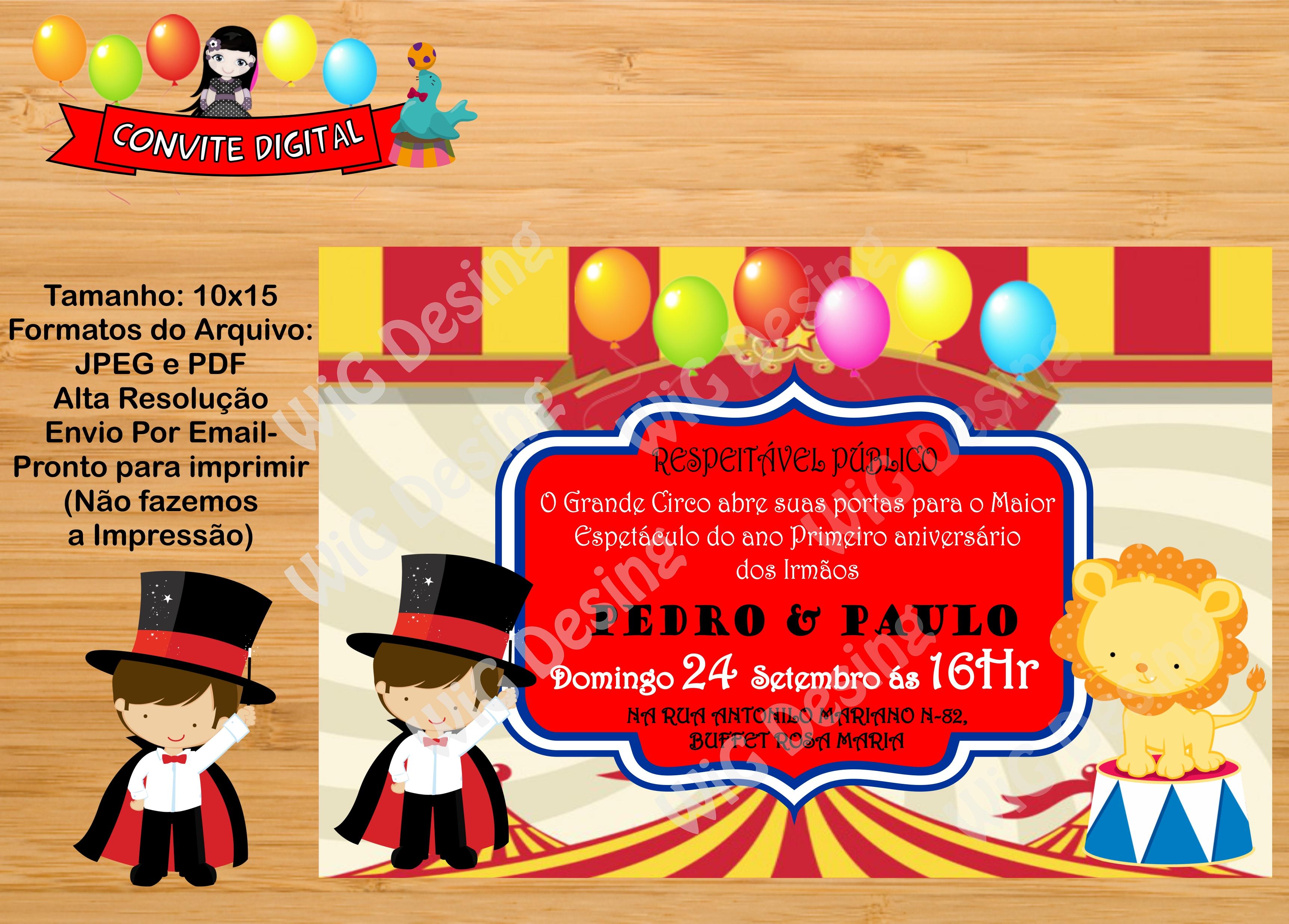 Convite Para Irmãos Elo7