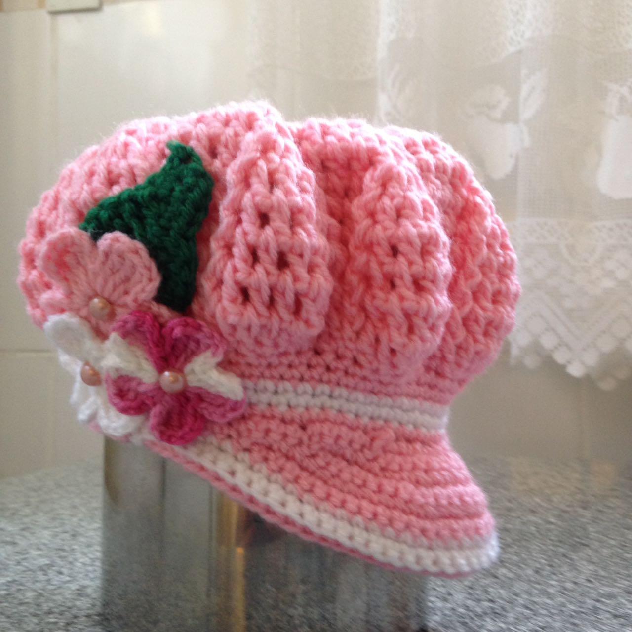 Boina Infantil Verde Croche  926e5d3c215