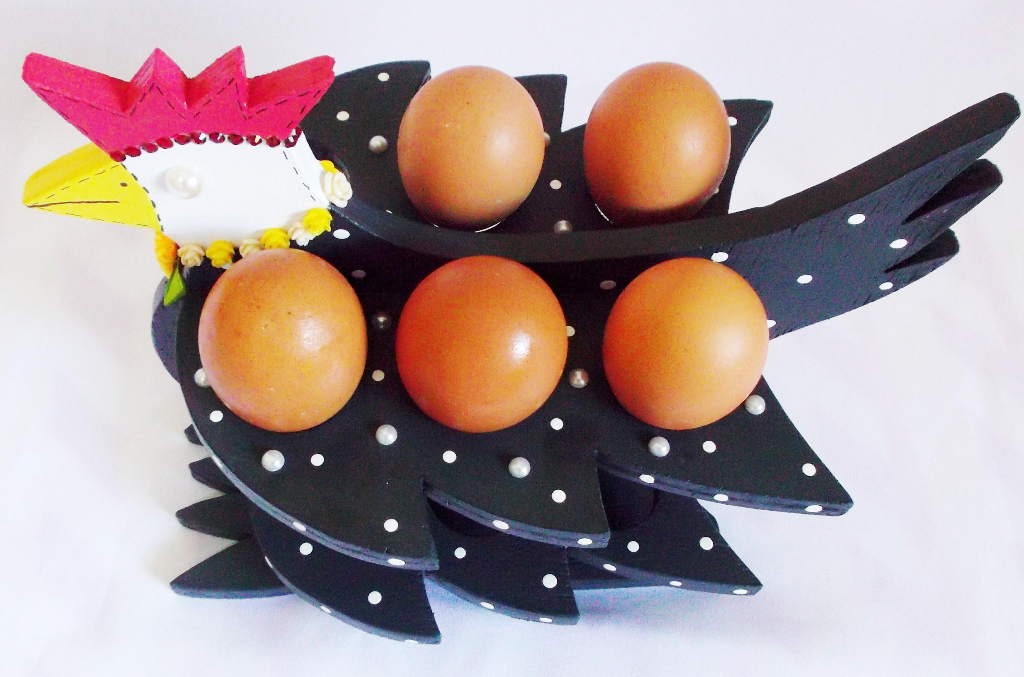 012e6021ca4 Cesta Decorativa Porta Ovos Uma Duzia