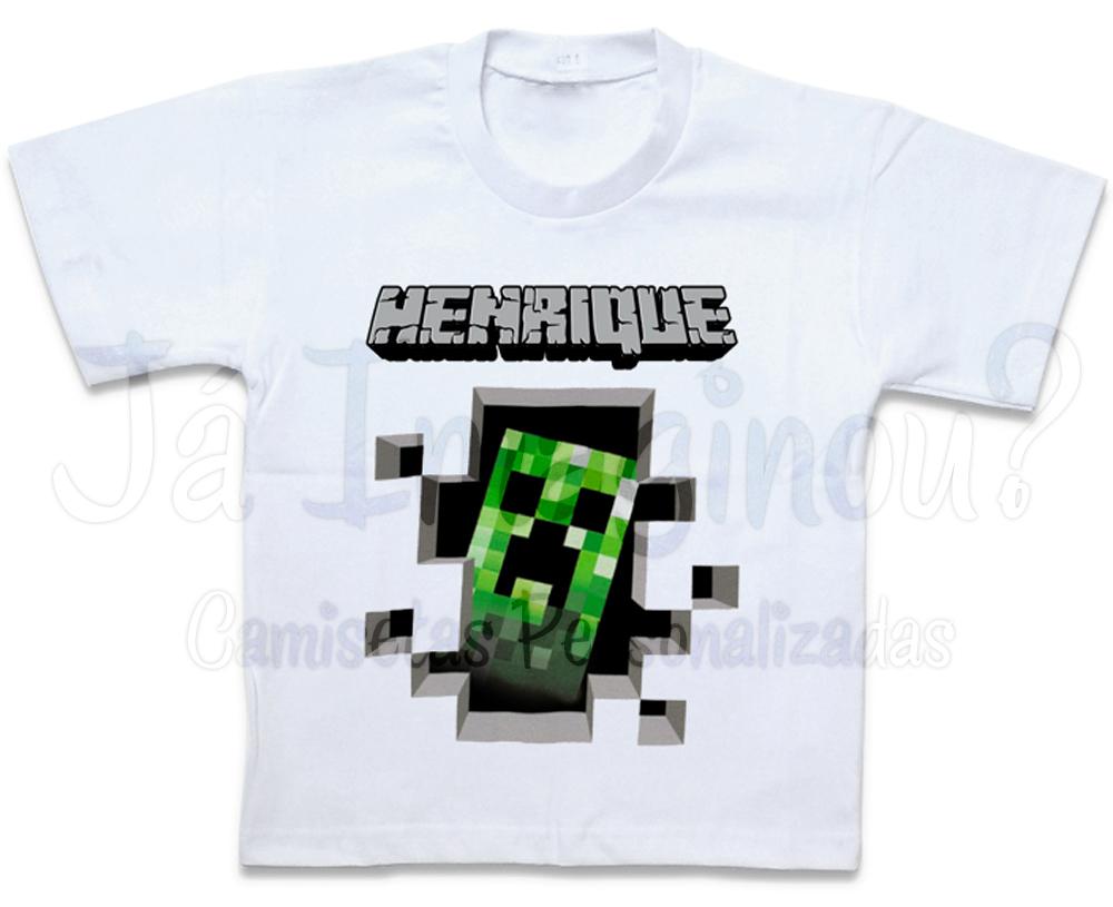 Camisa Minecraft Creeper Camisa  fbf5a8b3ef3cb