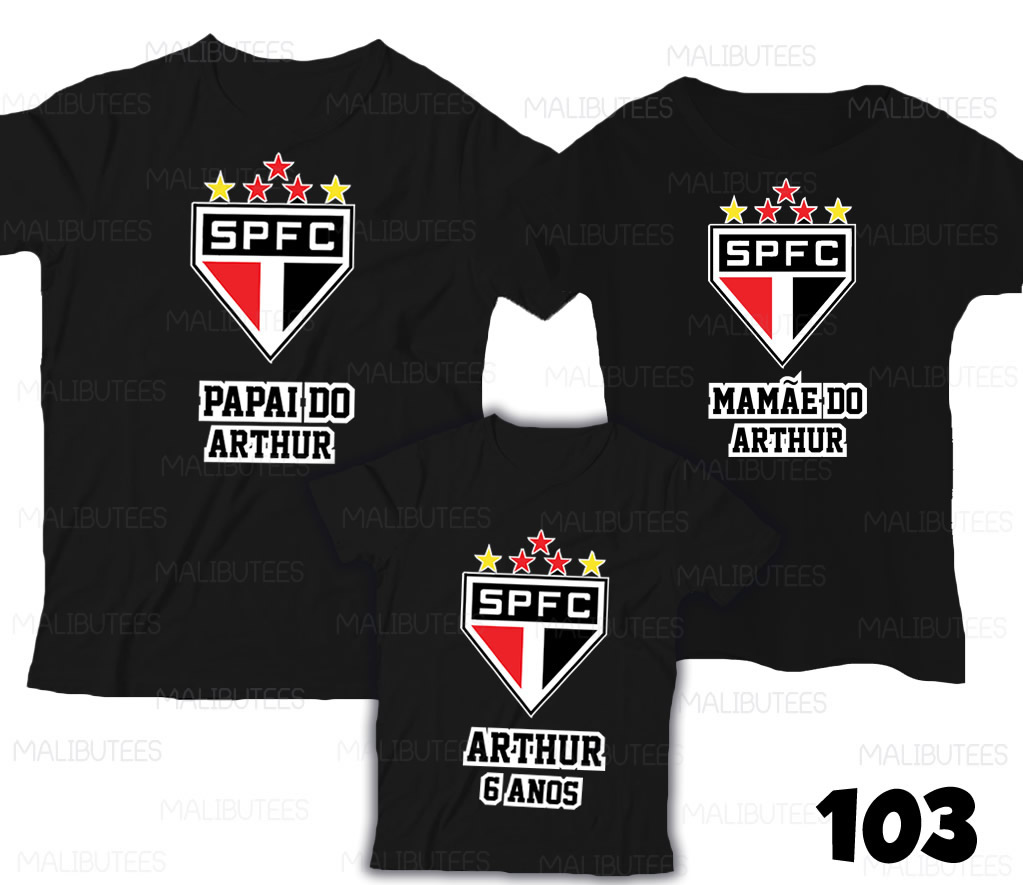 f71080d6e Camiseta São Paulo time Aniversario c  3 no Elo7