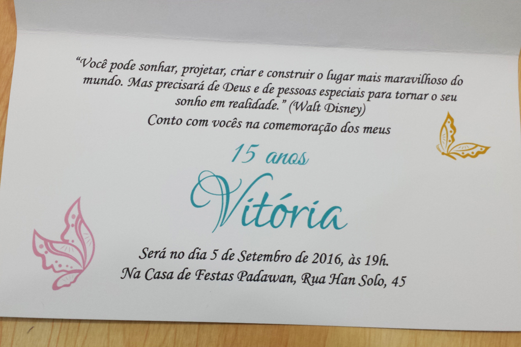 Convite 15 Anos Aniversário Casamento 240g No Elo7 Ee